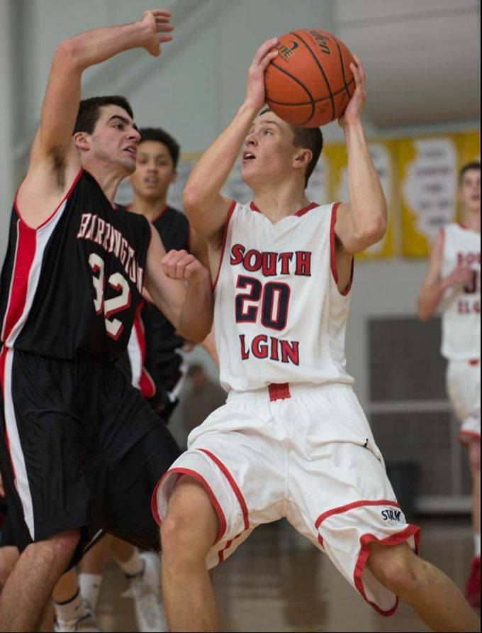 South Elgin vs. Barrington boys basketball at Monday's Jacobs Holiday Classic in Algonquin.