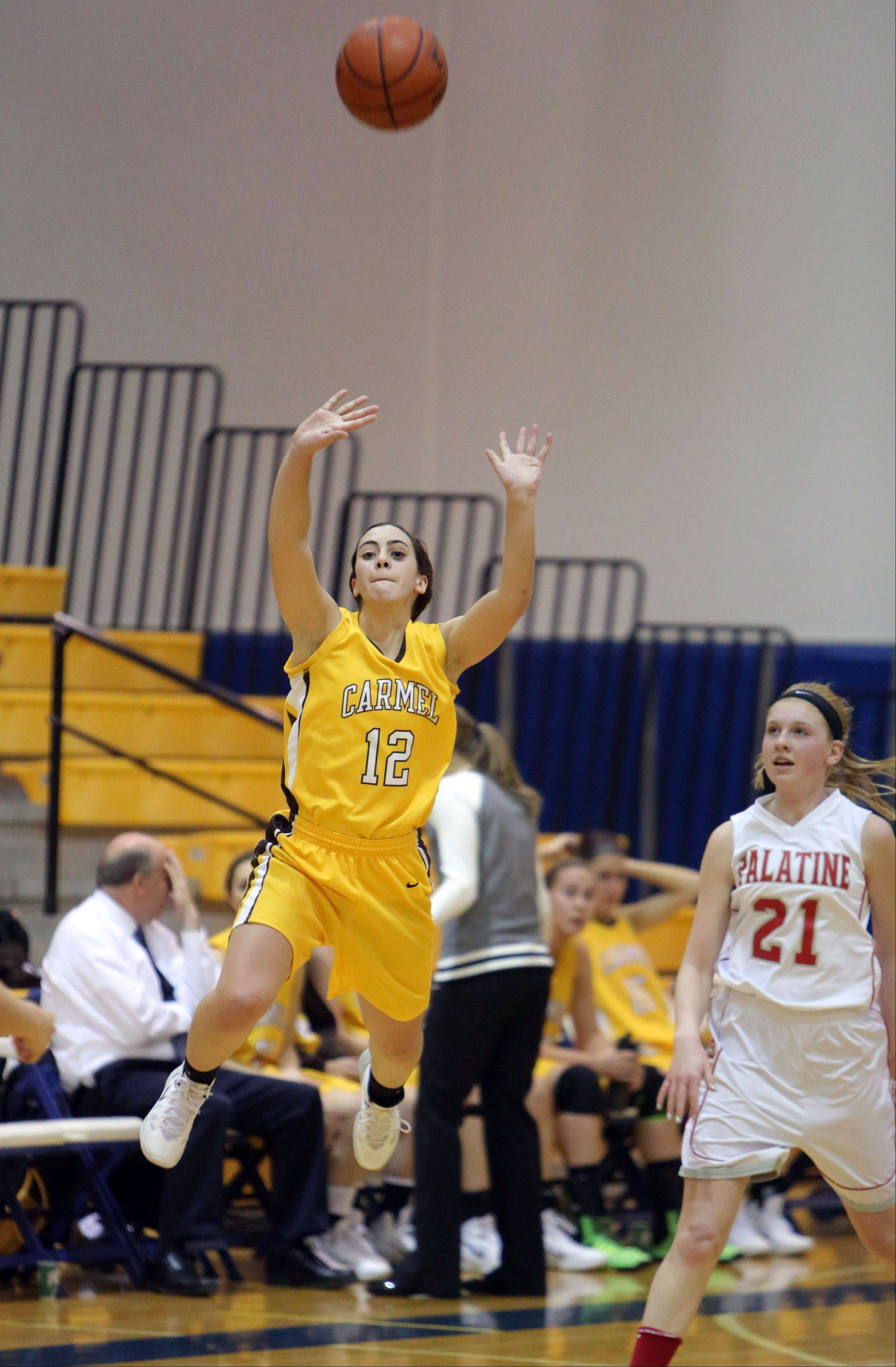 Felicelli helps Carmel drive past Palatine