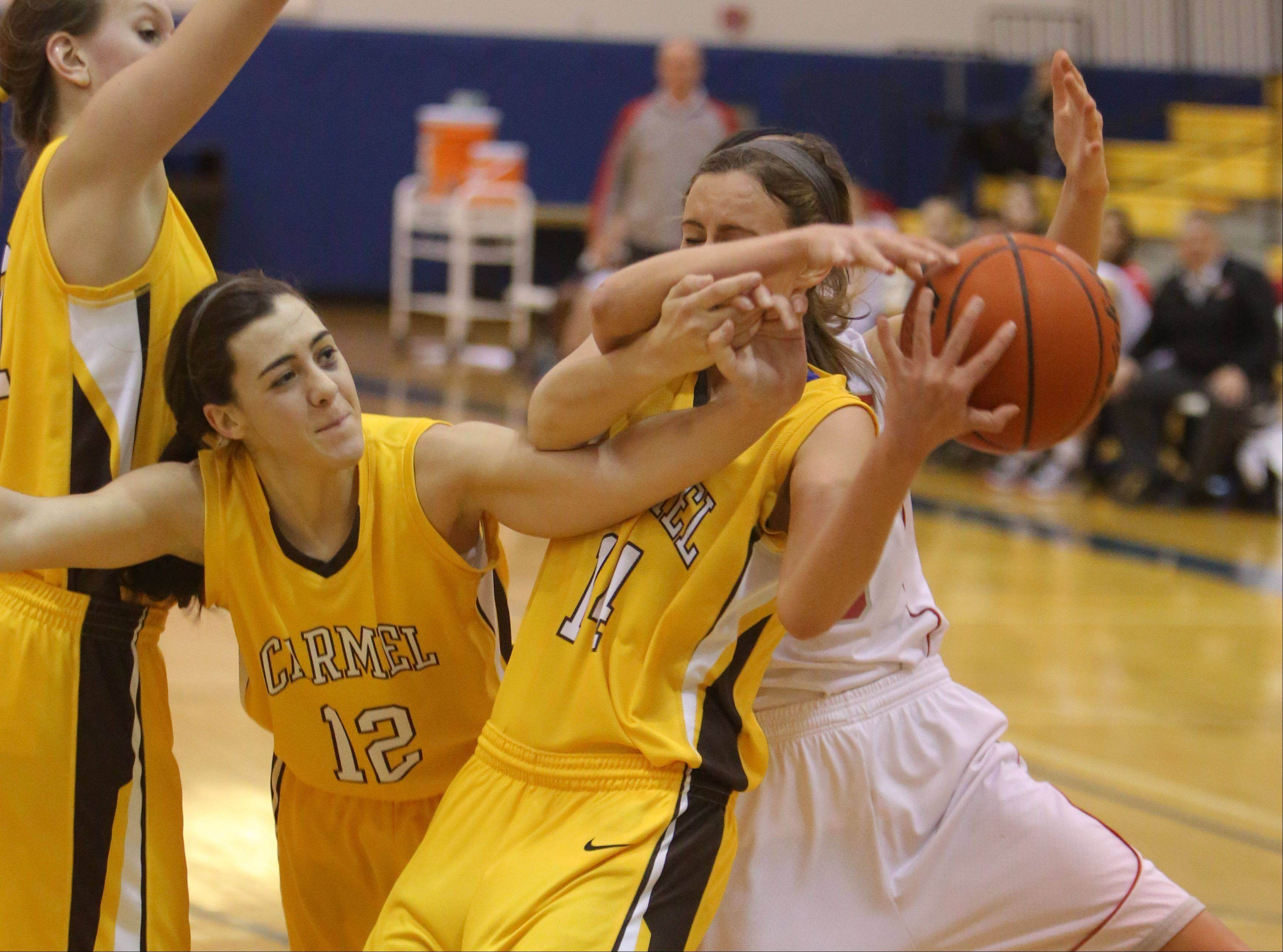 Images from the Carmel vs. Palatine girls basketball game on Friday, Dec. 27.