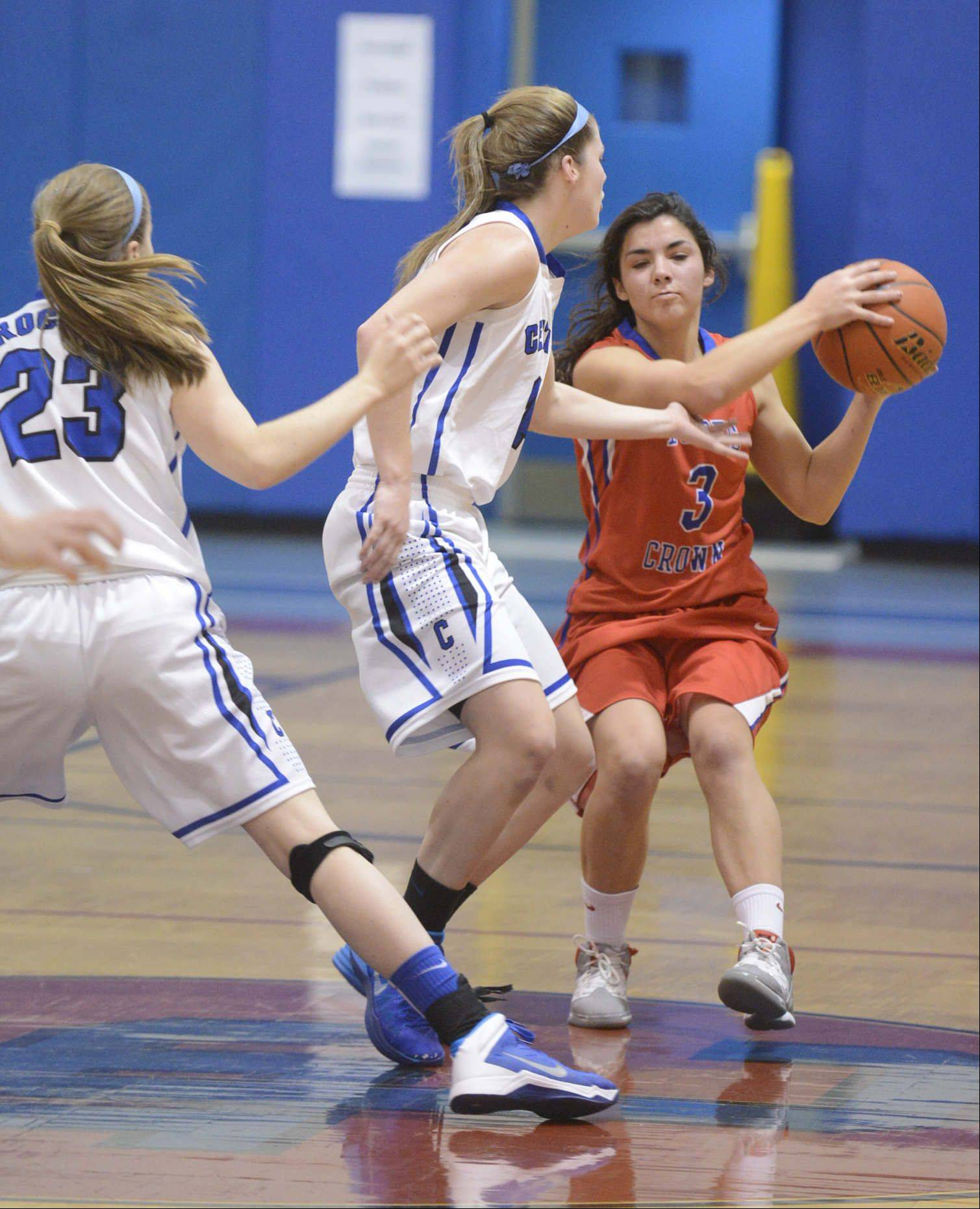 Images from the Dundee-Crown vs. Burlington Central girls basketball game Saturday, December 27, in Carpentersville.