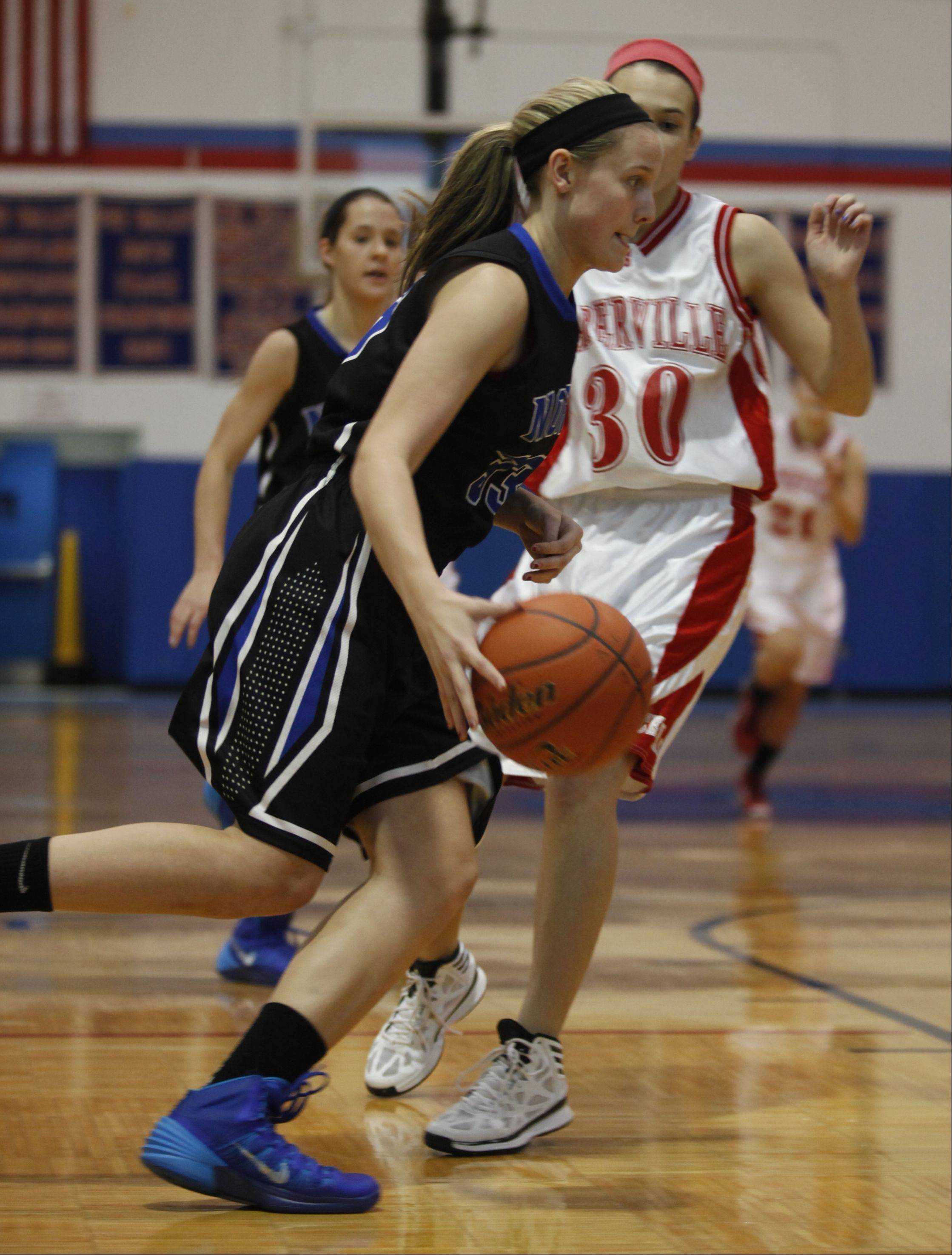 Images from the Naperville Central vs. St. Charles North girls basketball game Monday, December 30, 2013.