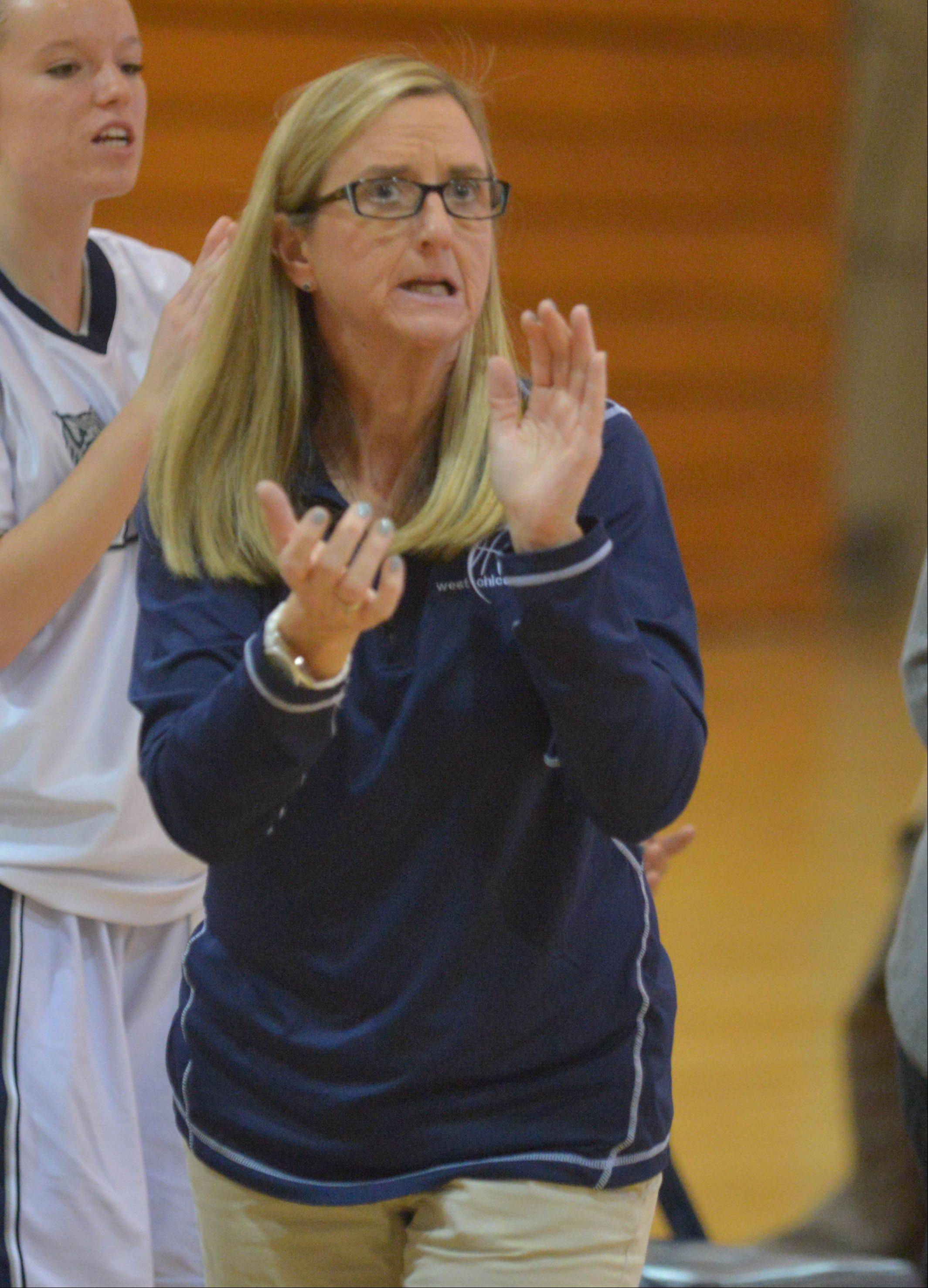 Kim Wallner won her 400th game as West Chicago girls basketball coach on Dec. 23.