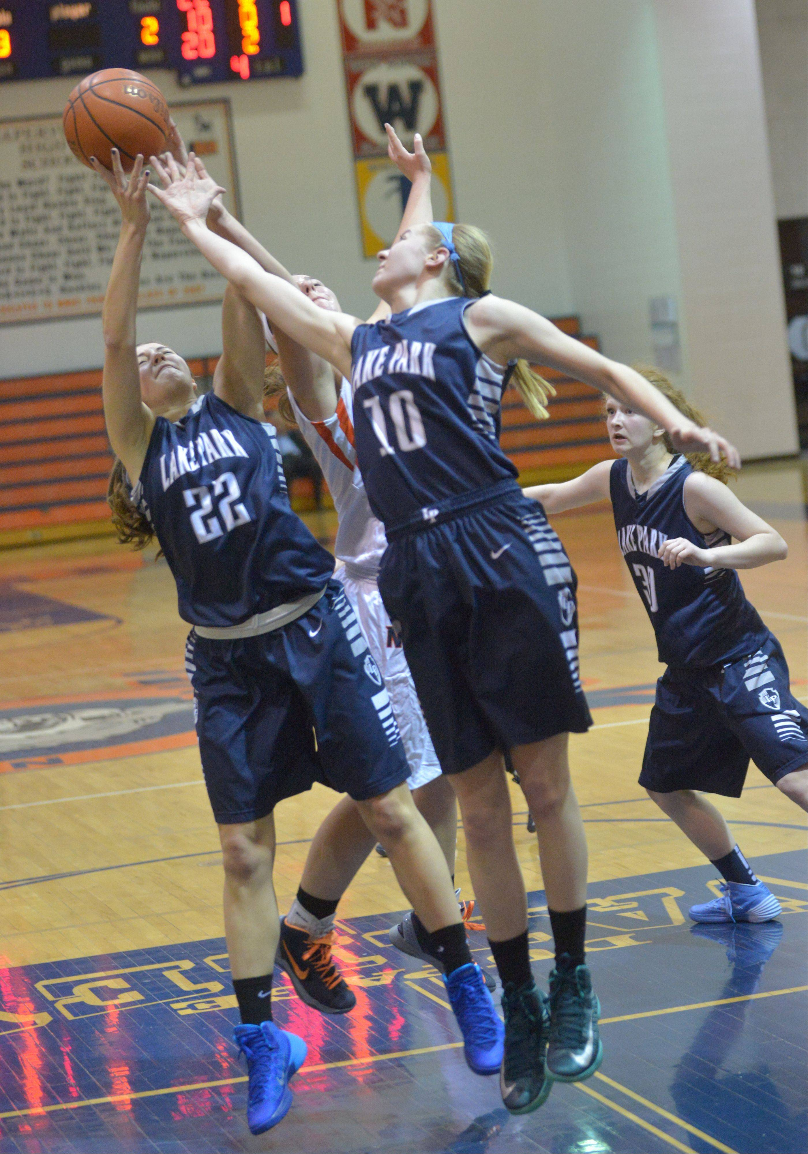 Photos from the Lake Park at Naperville North girls basketball game Thursday, Jan. 9.