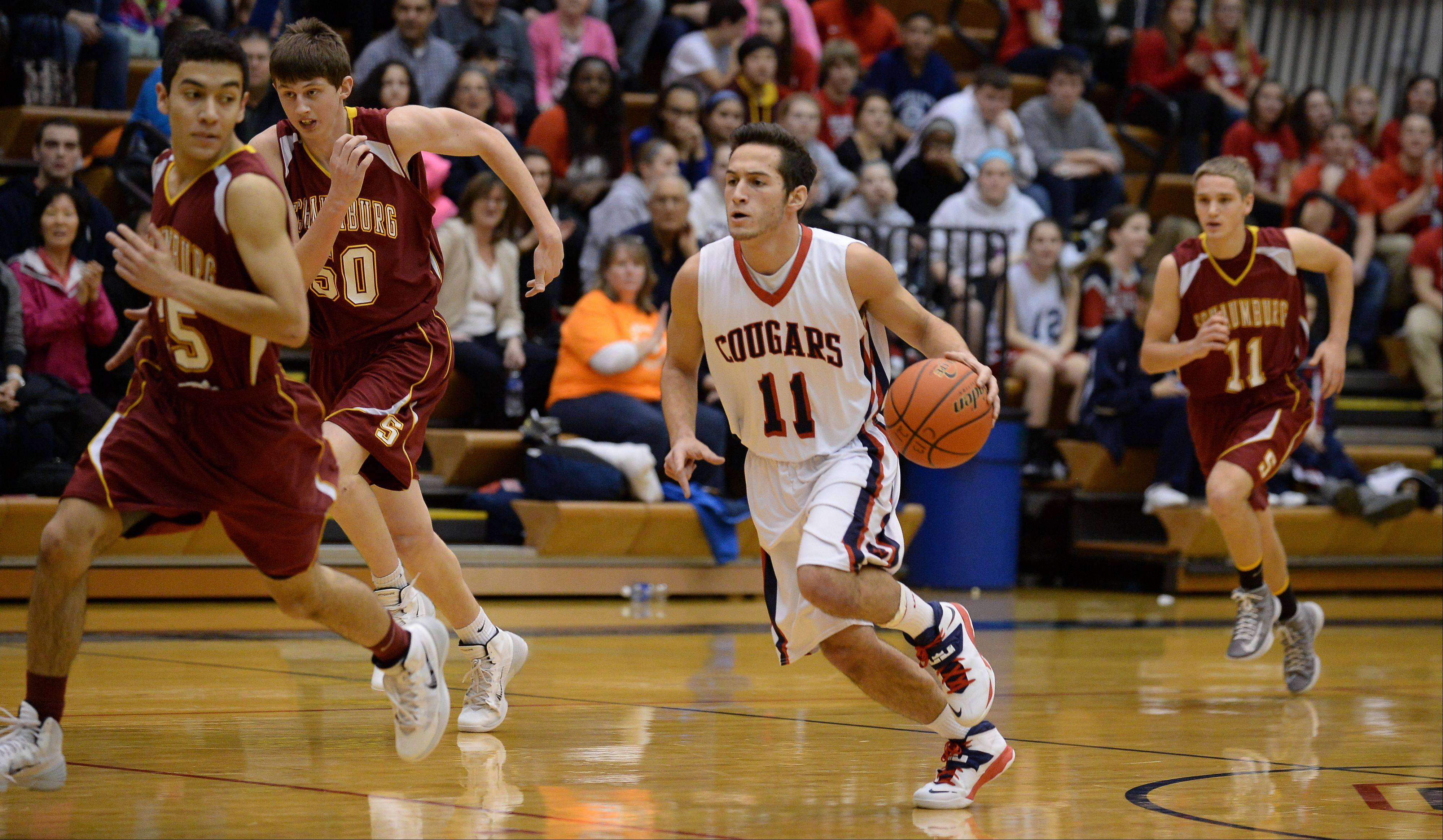 Photos from the Schaumburg vs. Conant boys basketball game on Friday, January 10th, in Hoffman Estates.