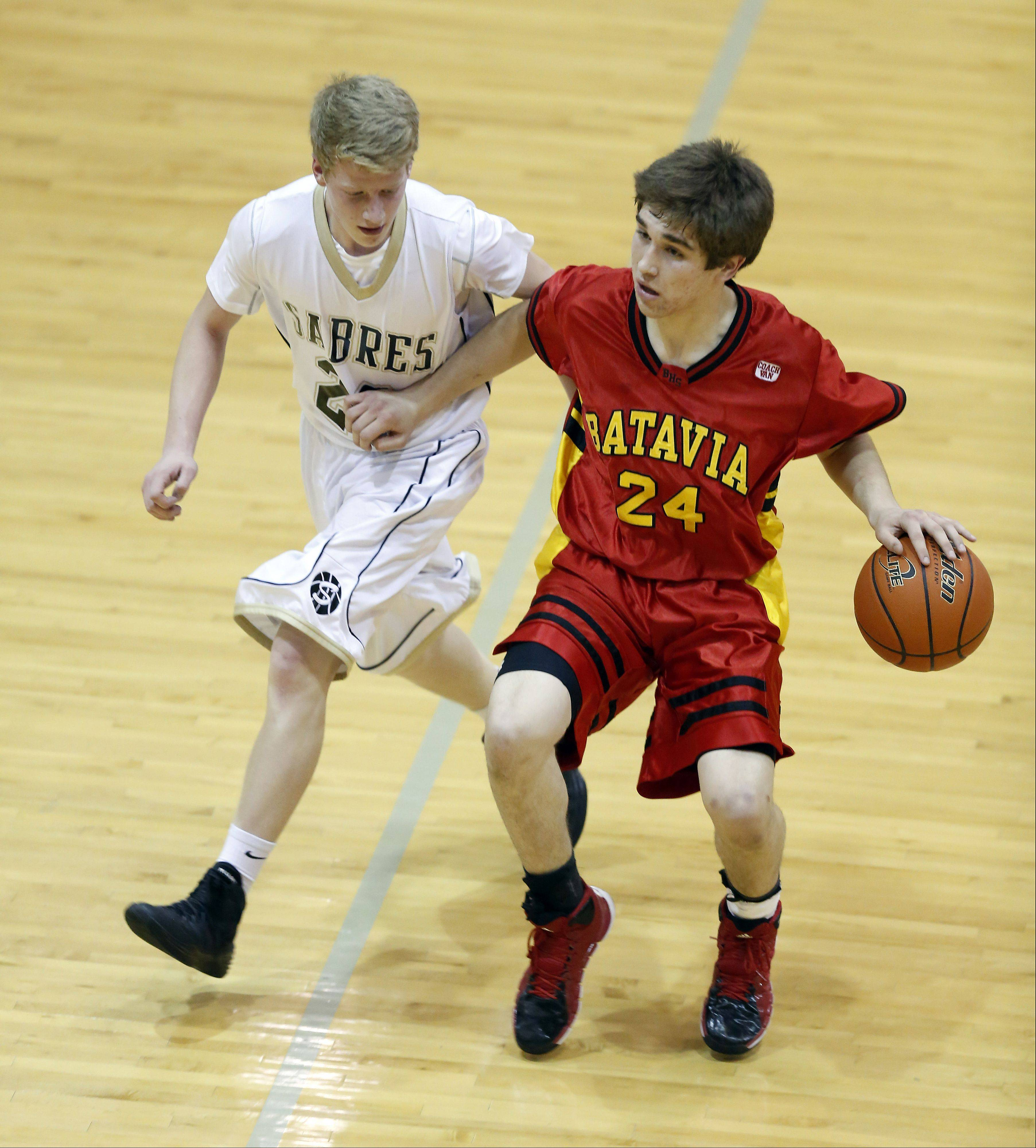 Images from the Batavia vs. Streamwood boys basketball game Friday, January 10, 2014.