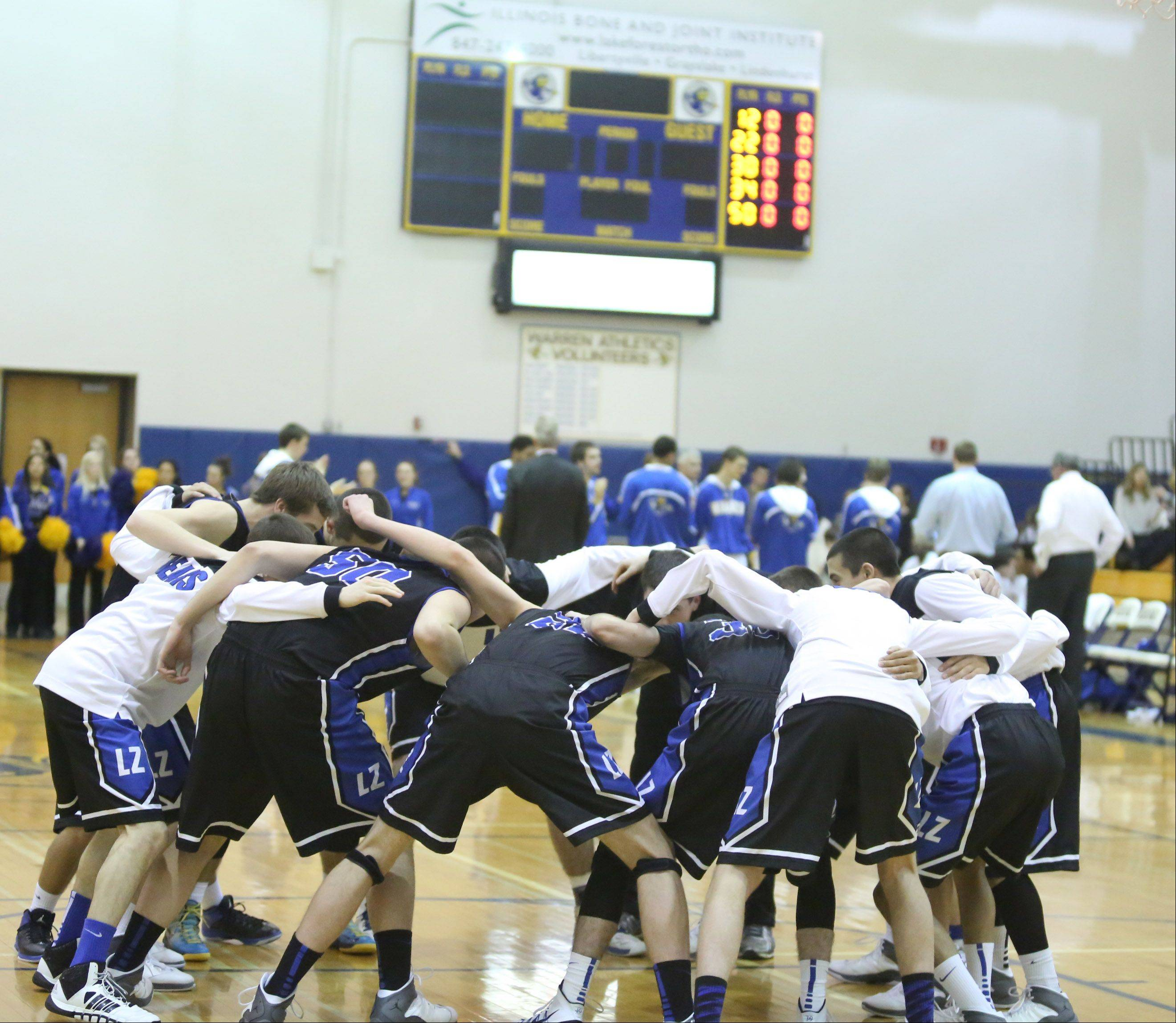Images from the Lake Zurich at Warren boys basketball game on Friday, January 10 in Gurnee.