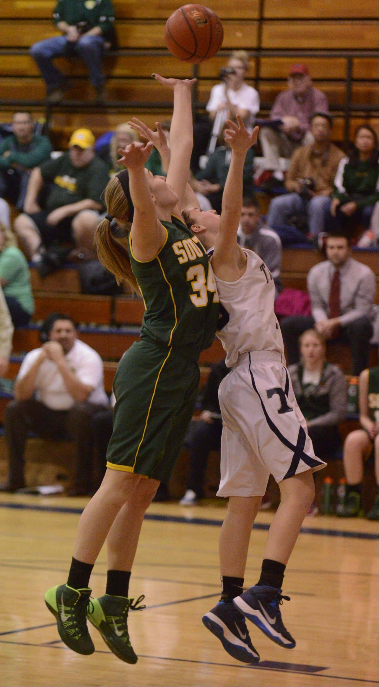 Images from the Crystal Lake South vs. Cary-Grove girls basketball game Saturday, January 11, 2014.
