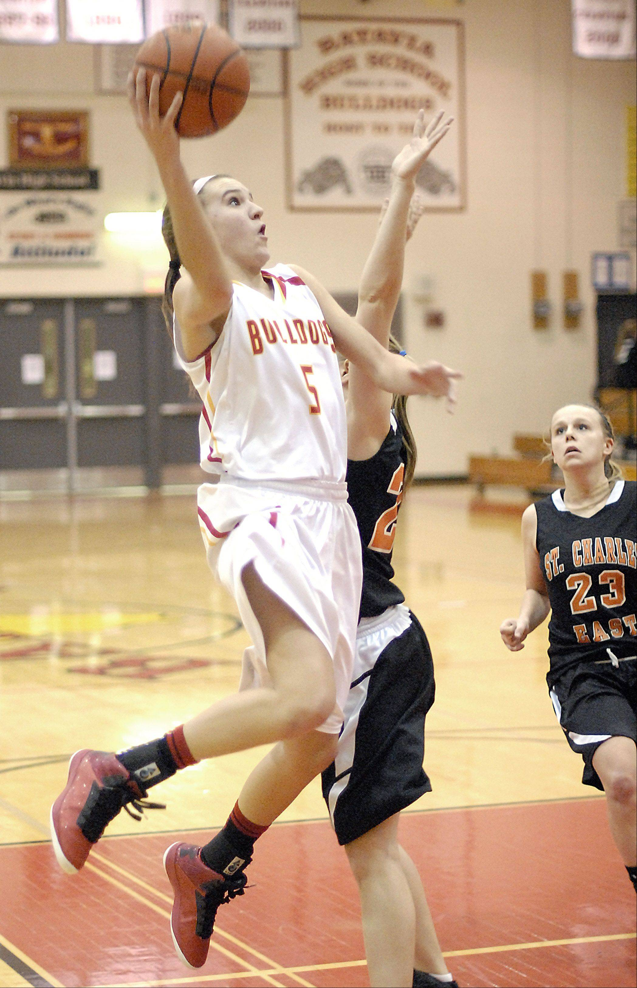Liza Fruendt broke the Batavia scoring record Tuesday night against St. Charles East.