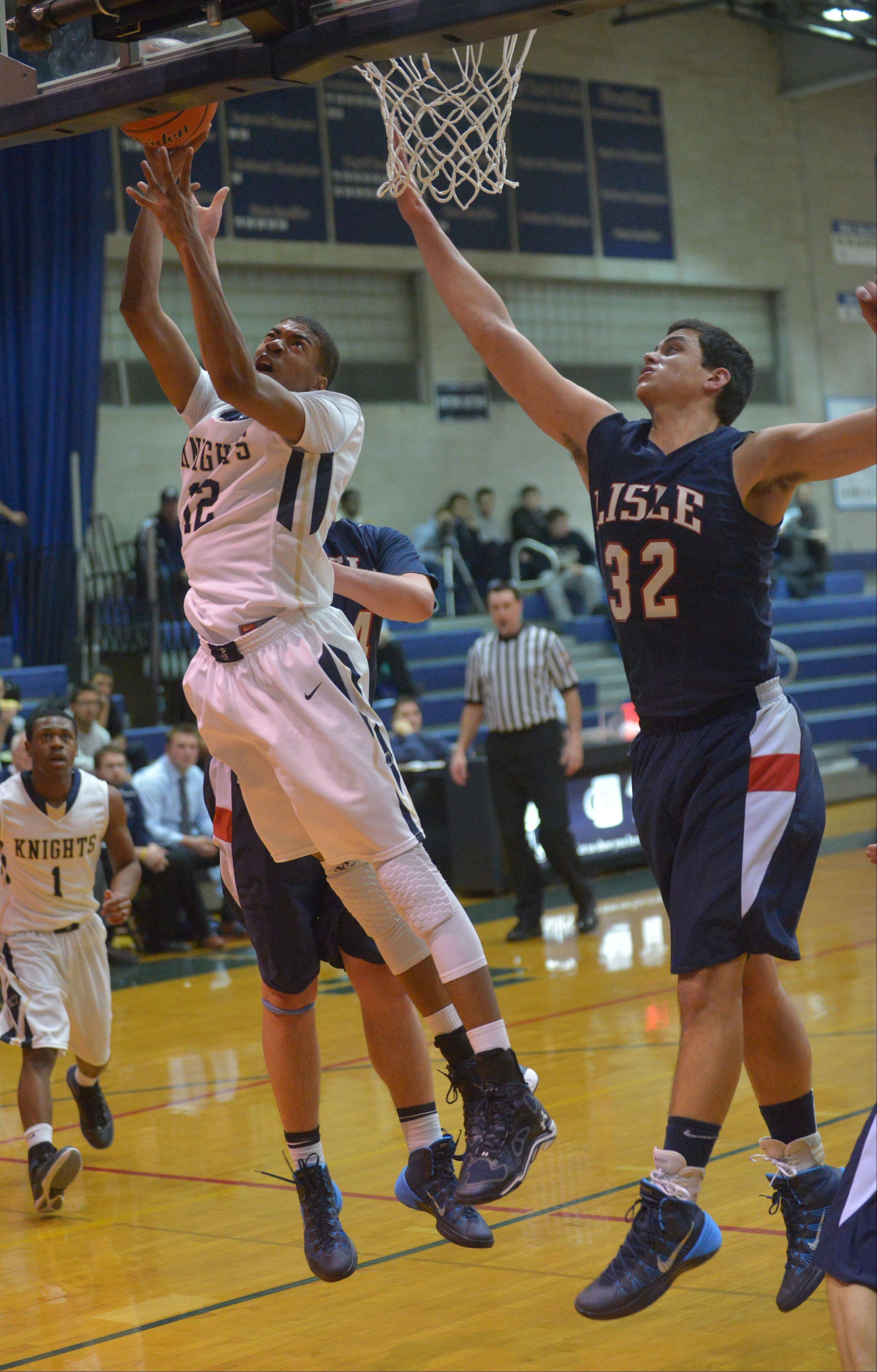 Images from the Lisle vs. IC Catholic Prep boys basketball game on Wednesday, Jan. 15, 2012.