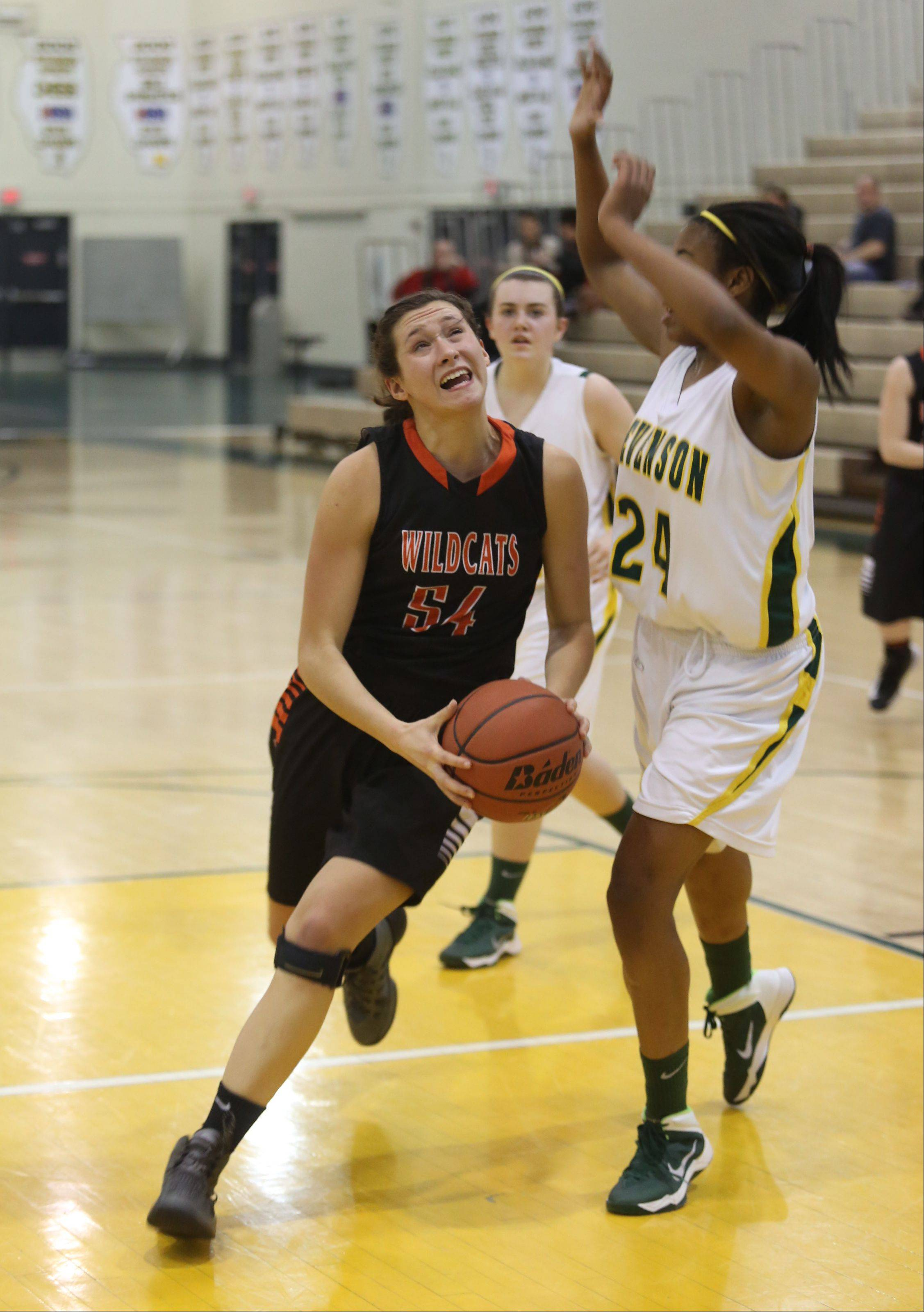 Images from the Libertyville at Stevenson girls basketball game on Thursday, January 16 in Lincolnshire.