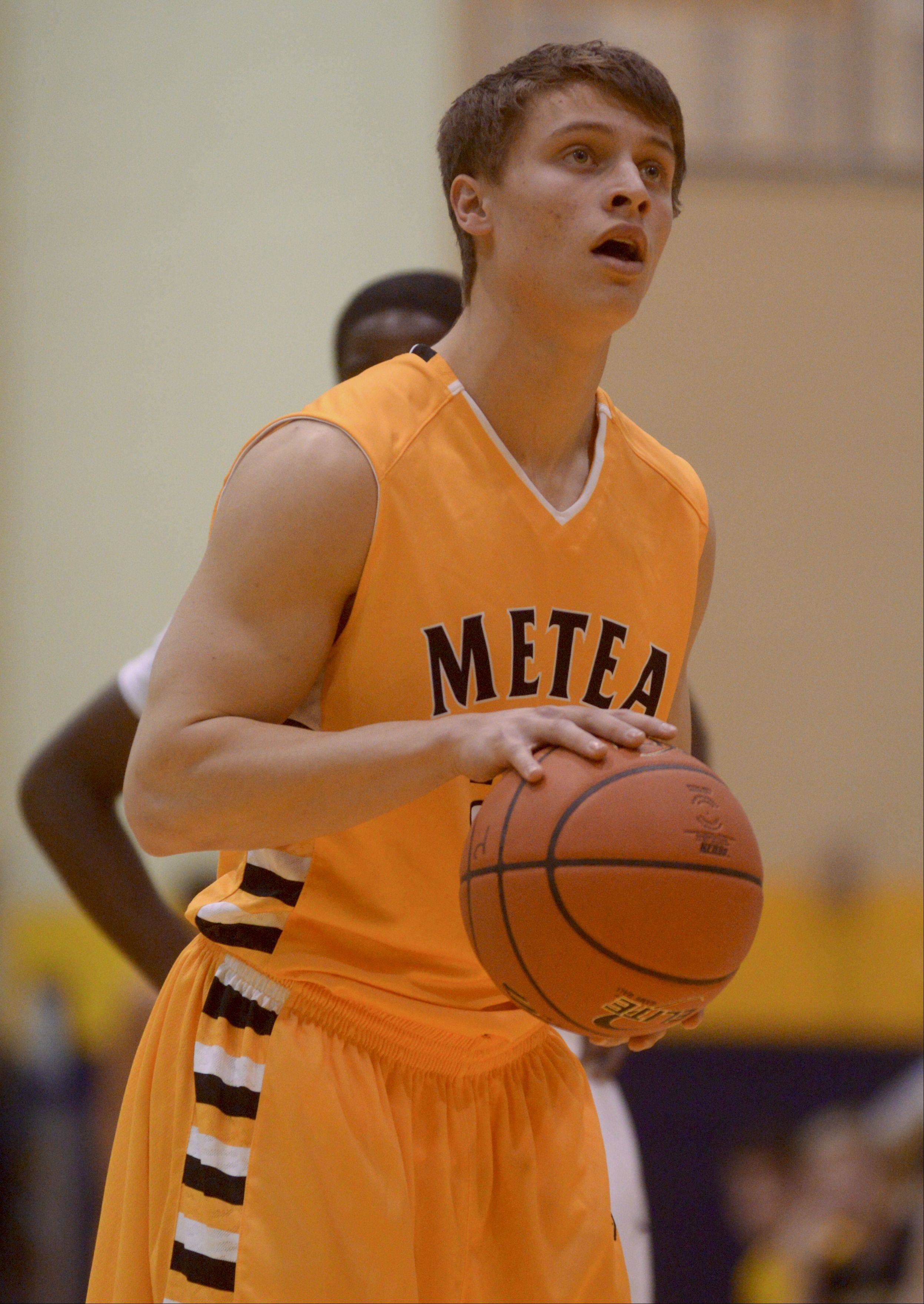 Photos from the Metea Valley at Neuqua Valley boys basketball game on Thursday, January 16.