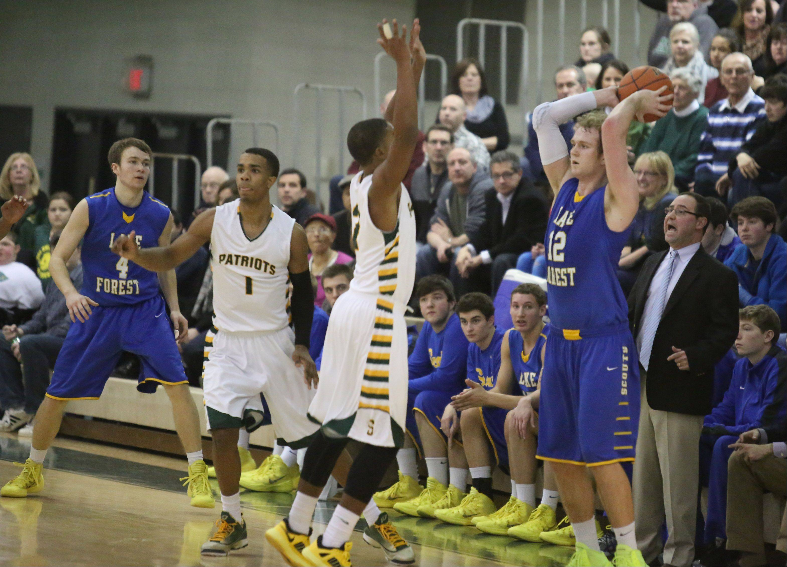Images: Stevenson vs. Lake Forest boys basketball