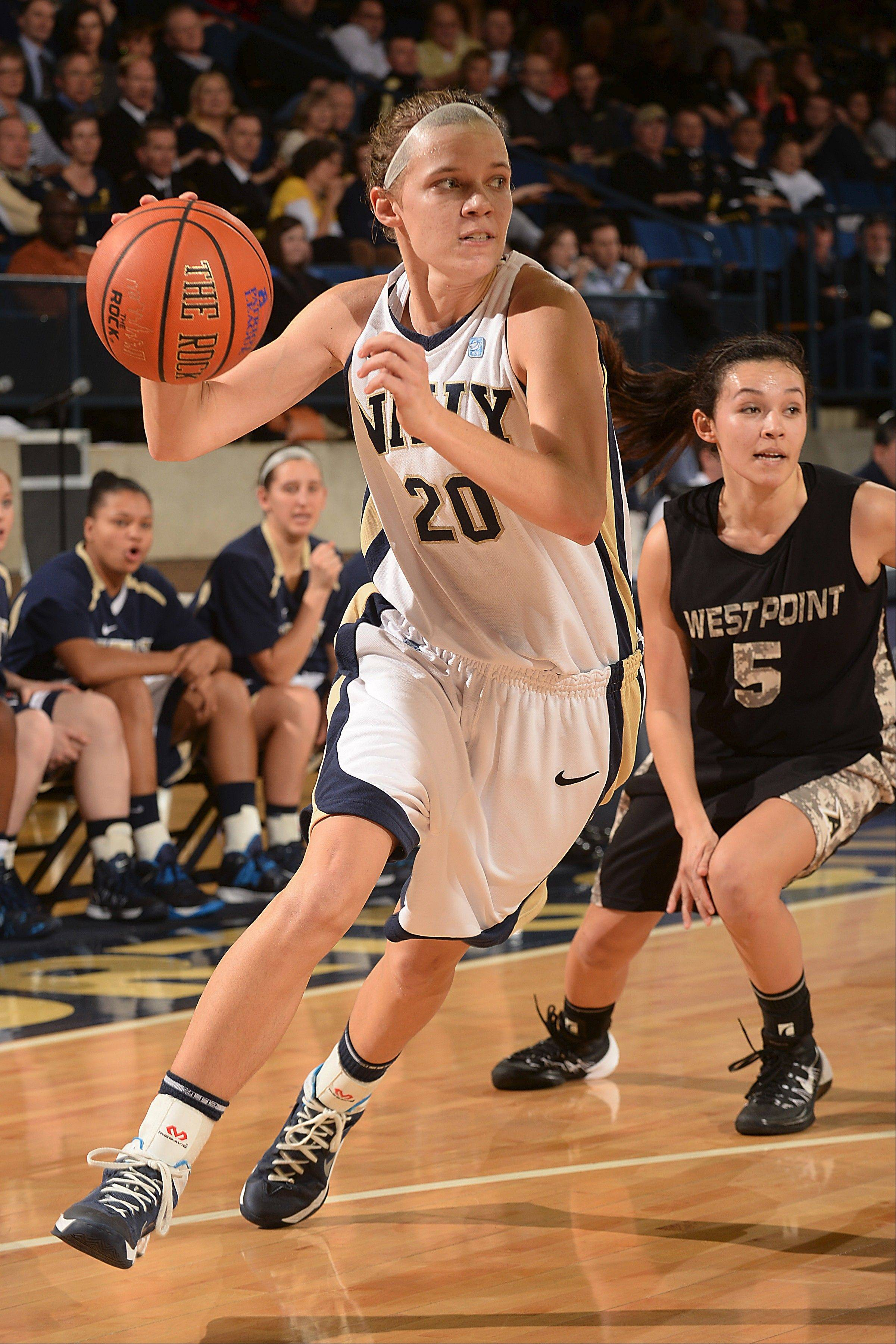Audrey Bauer, who played for Lake Zurich High School, averages 9.4 points per game for the U.S. Naval Academy.
