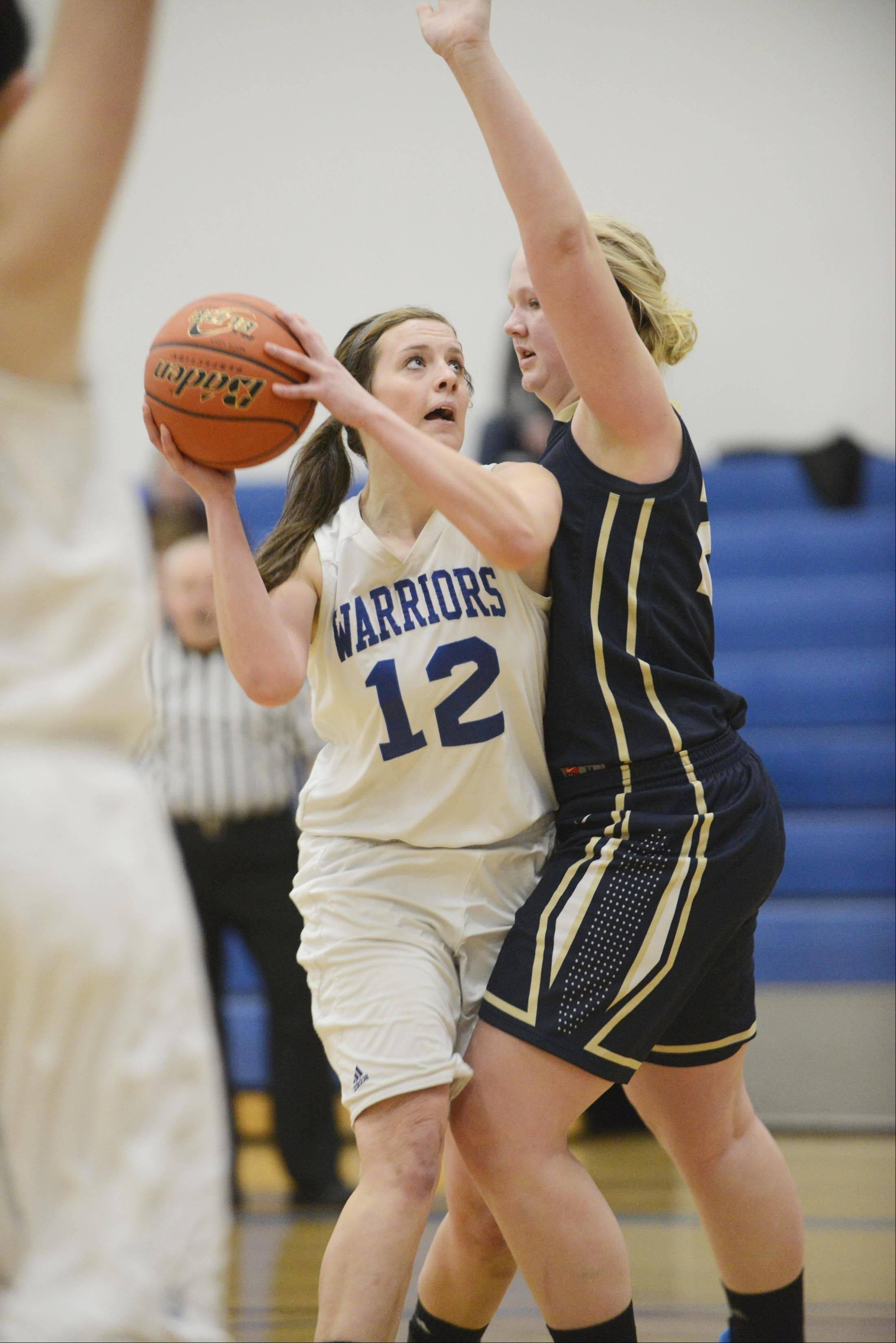 Images from the Harvest Christian vs. Westminster Christian girls basketball game Monday, January 20, 2014 in Elgin.