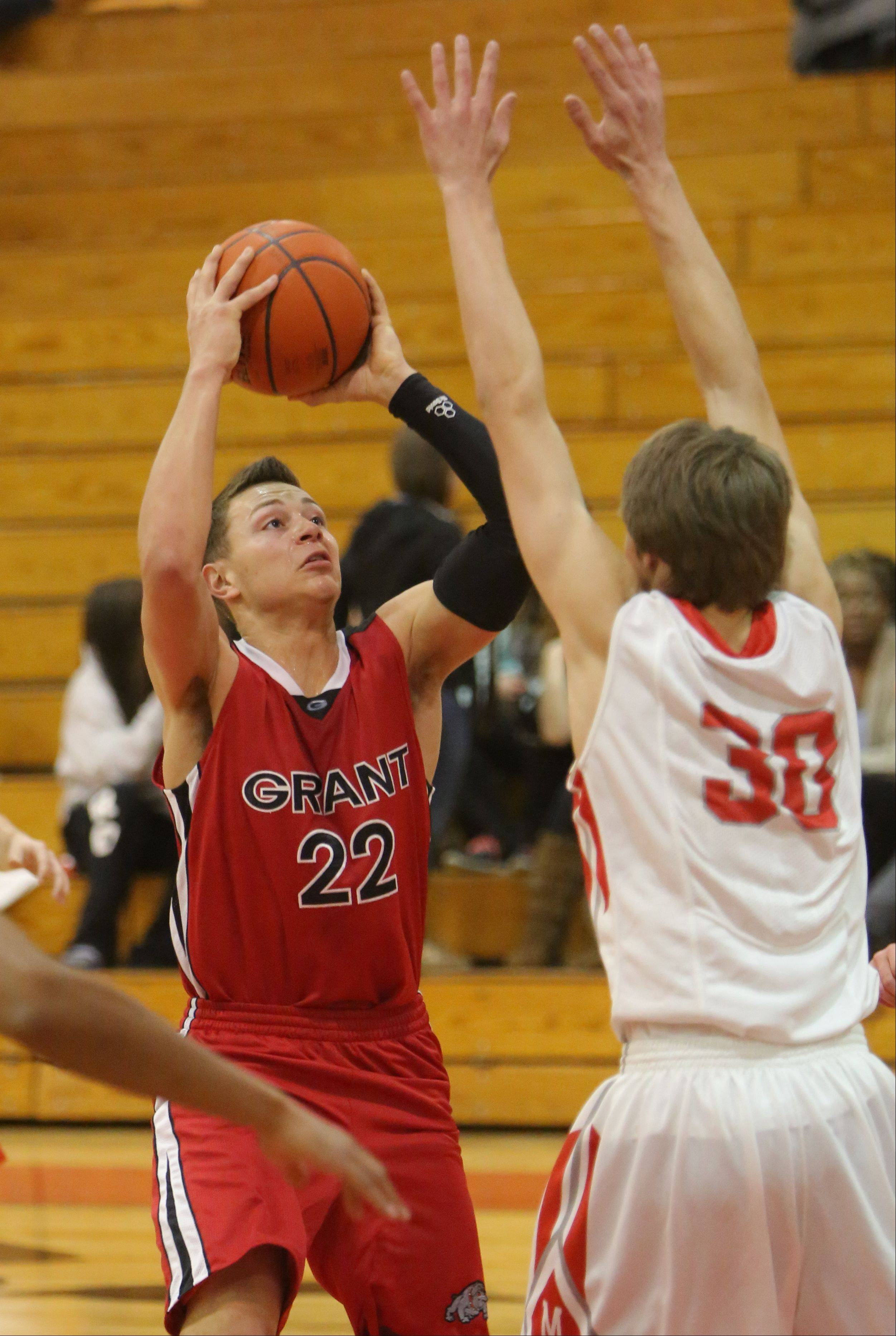 Images from the Grant at Mundelein boys basketball game on Tuesday, January 21.