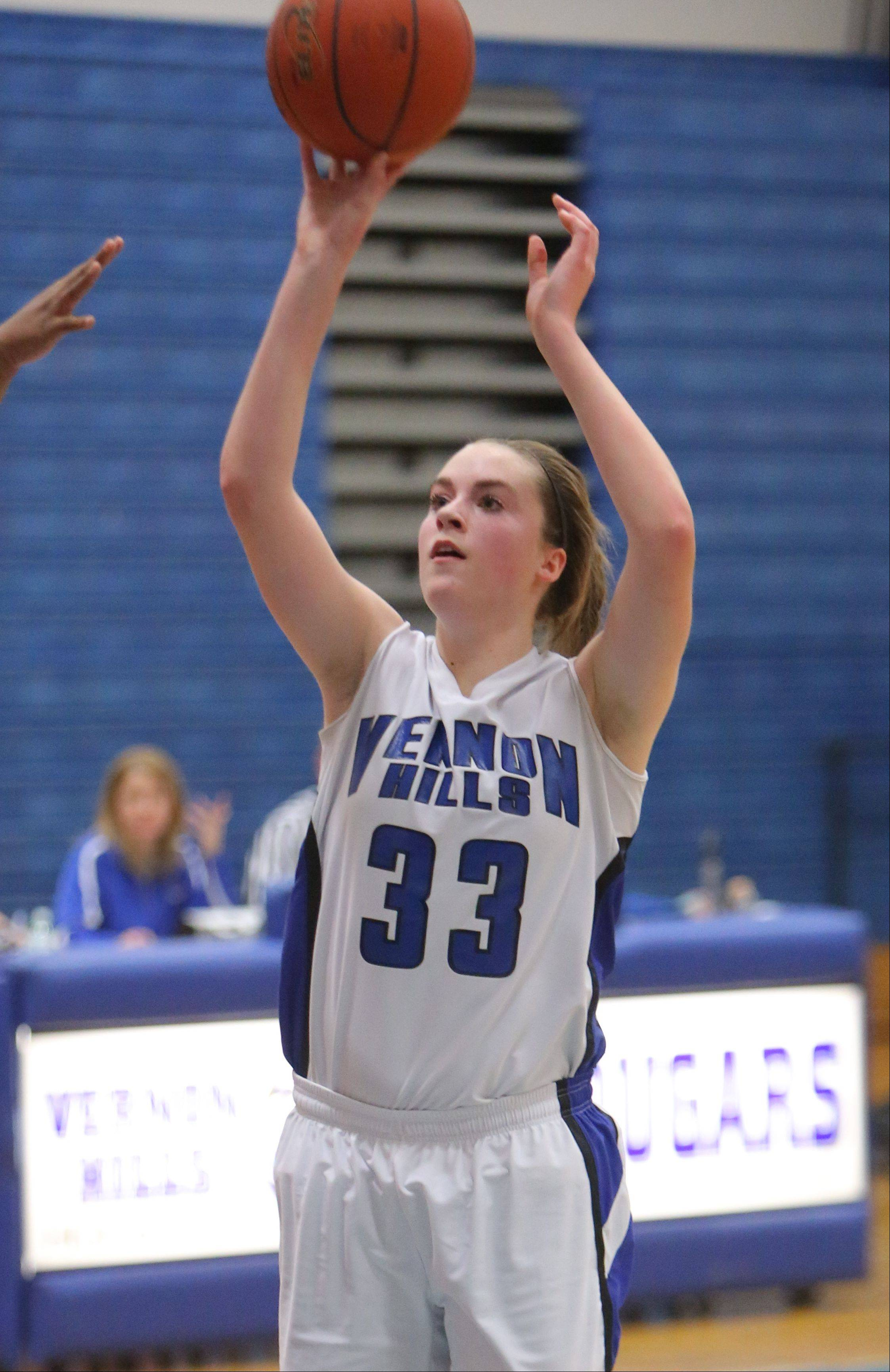 Images from the North Chicago at Vernon Hills girls basketball game on Wednesday, January 22.