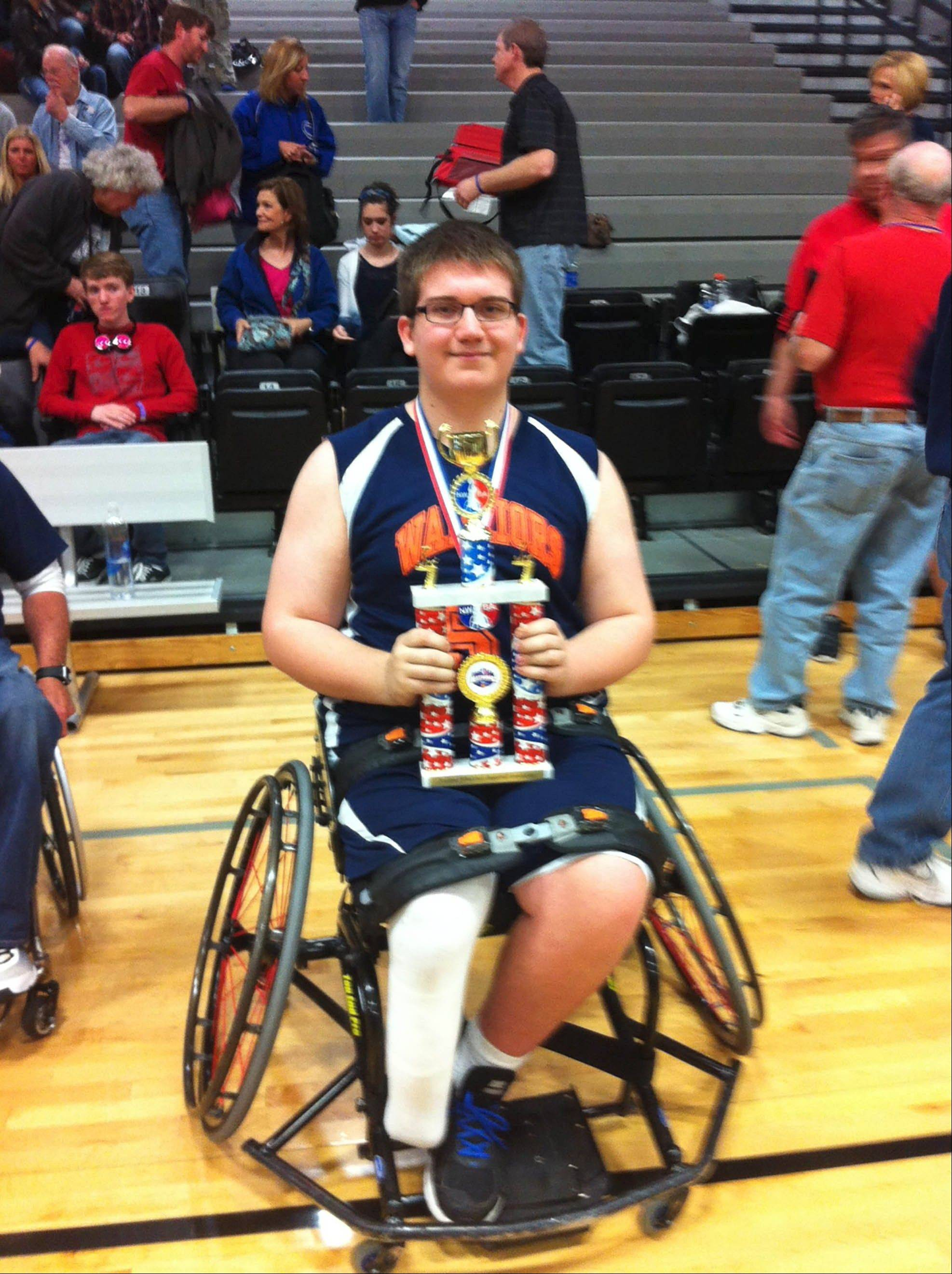 Wheelchair basketball helps player fly