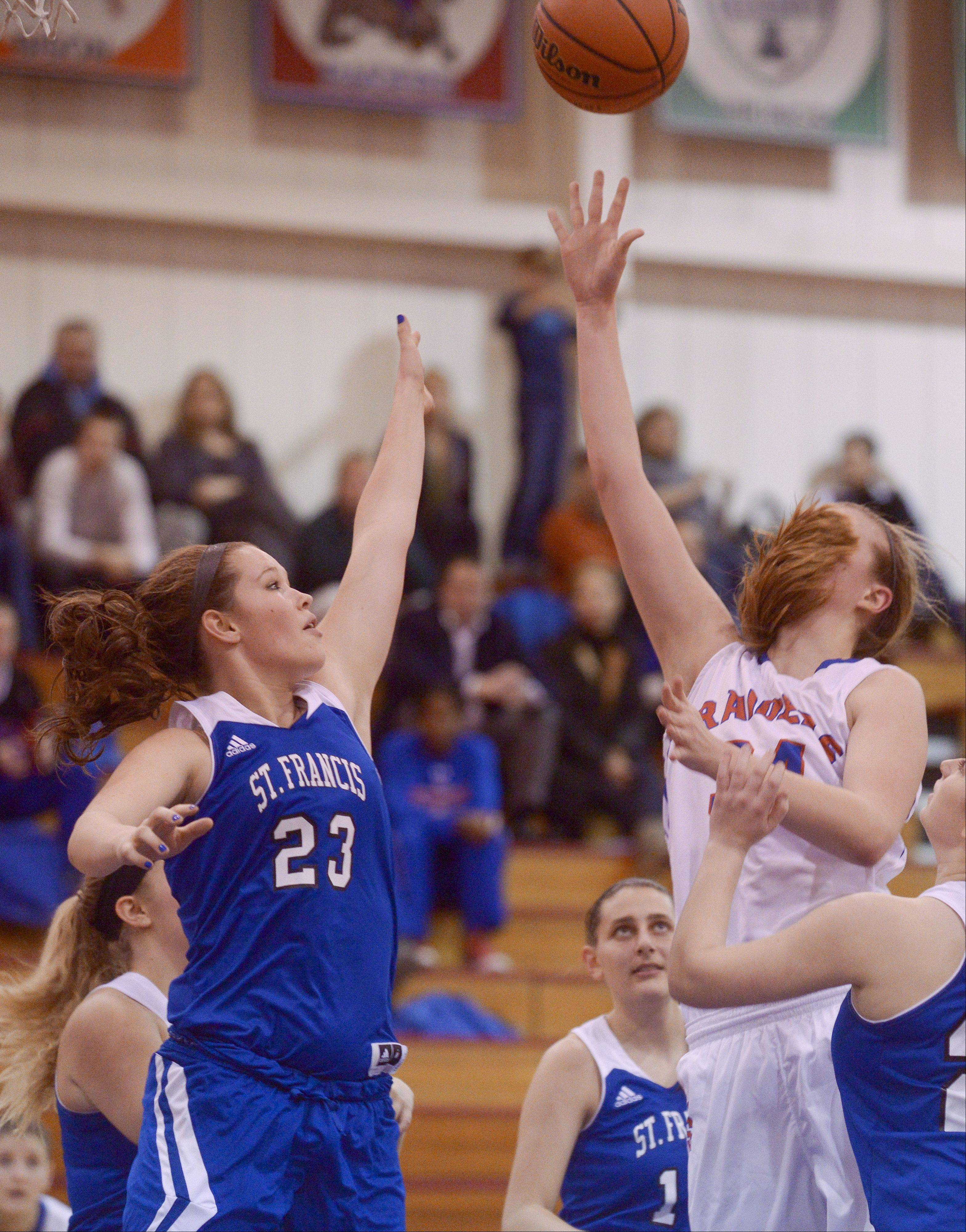 Photos from the St. Francis at Glenbard South girls basketball game on Thursday, Jan. 23.