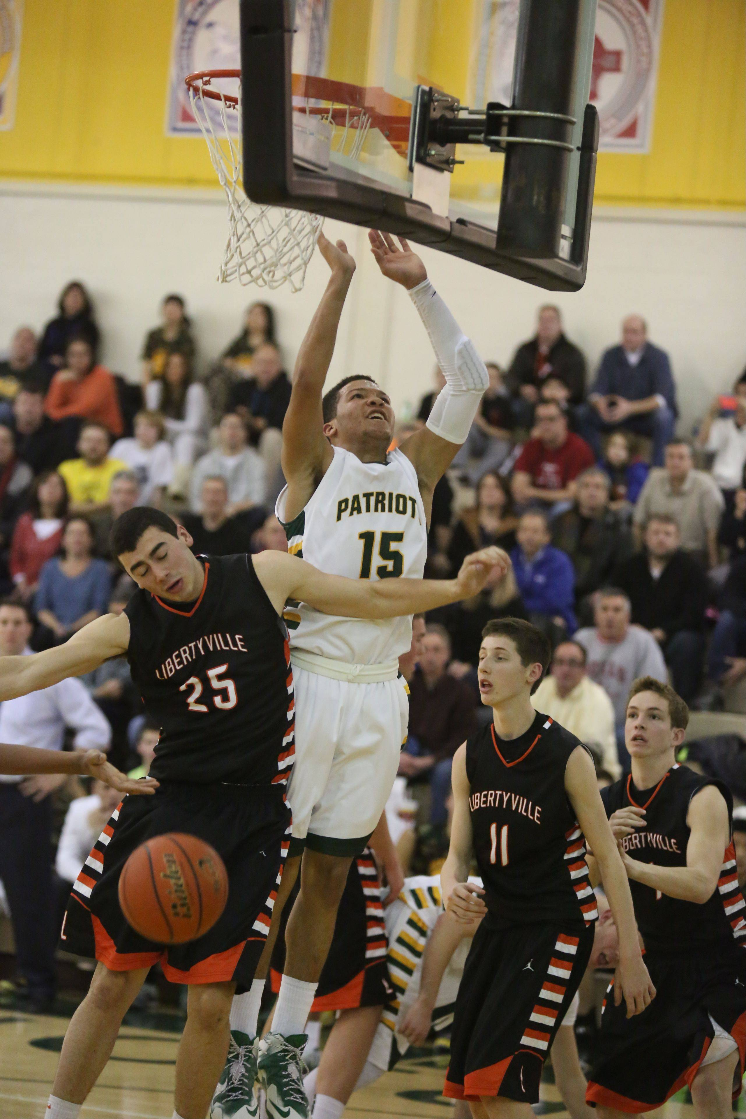 Images from the Libertyville at Stevenson boys basketball game on Friday, January 24 in Lincolnshire.