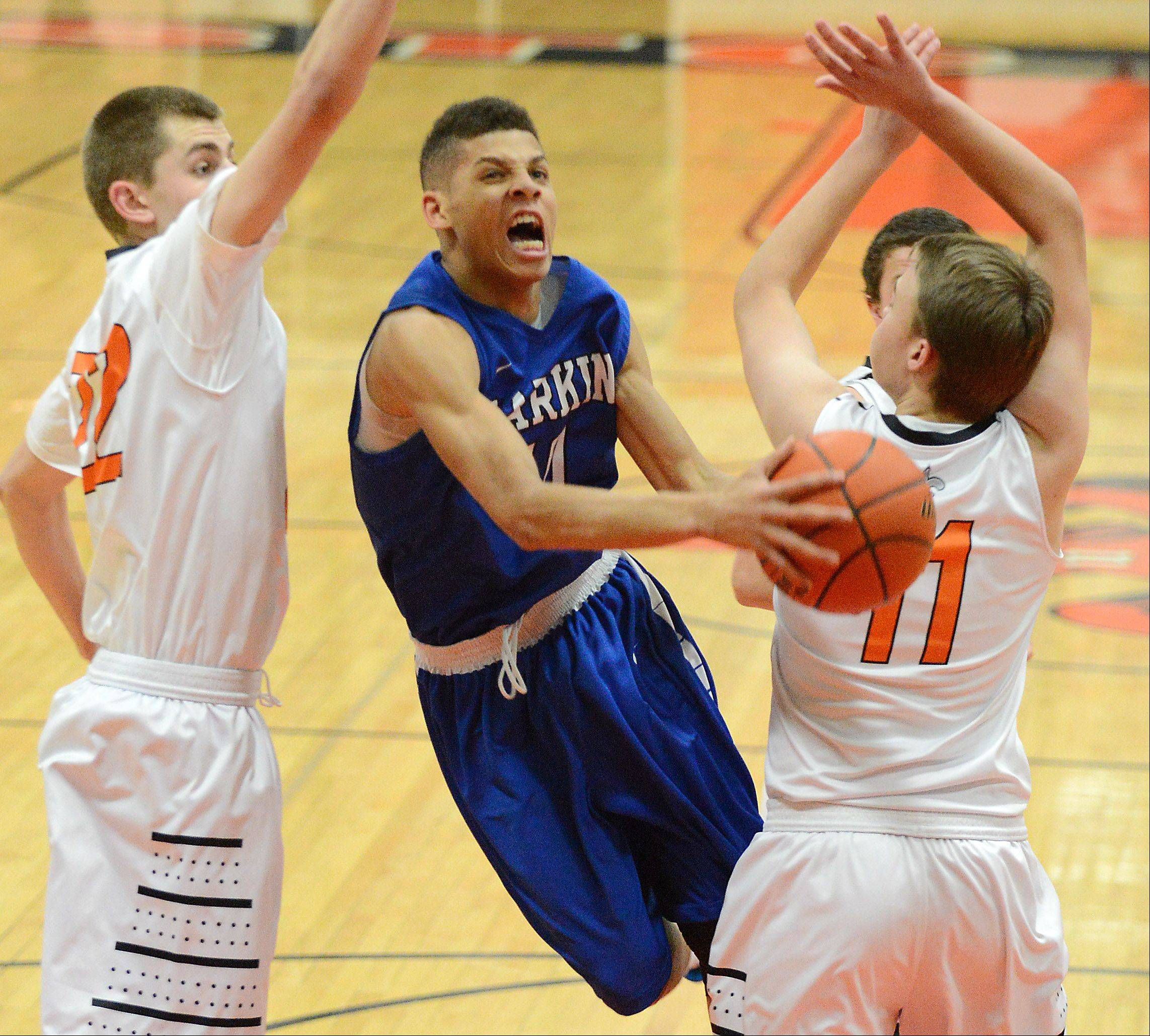 Larkin frustrates St. Charles East, stays perfect in River