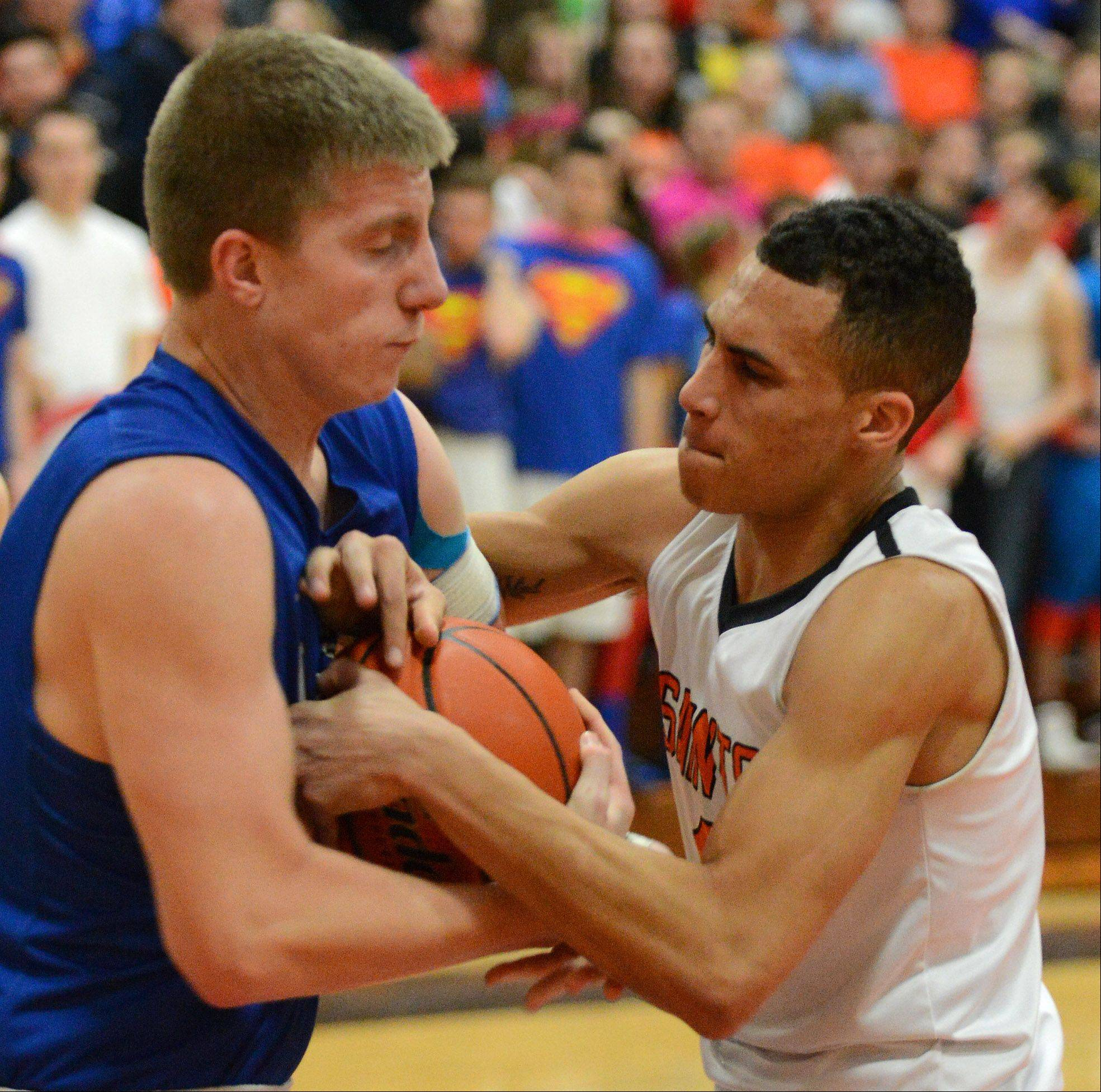 Images from the Larkin vs. St. Charles East boys basketball game Thursday, January 30, 2014.