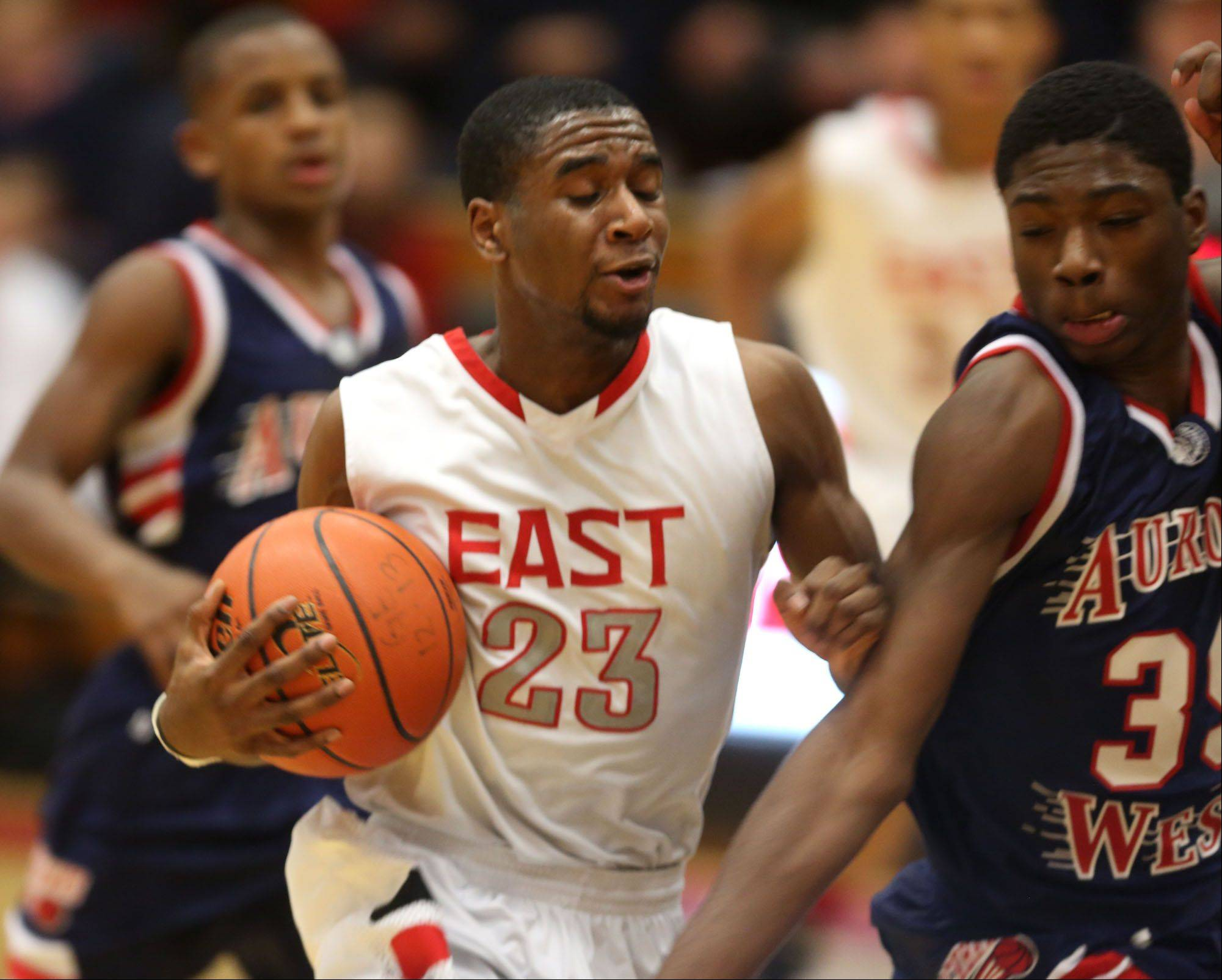 Images: West Aurora vs. Glenbard East boys basketball