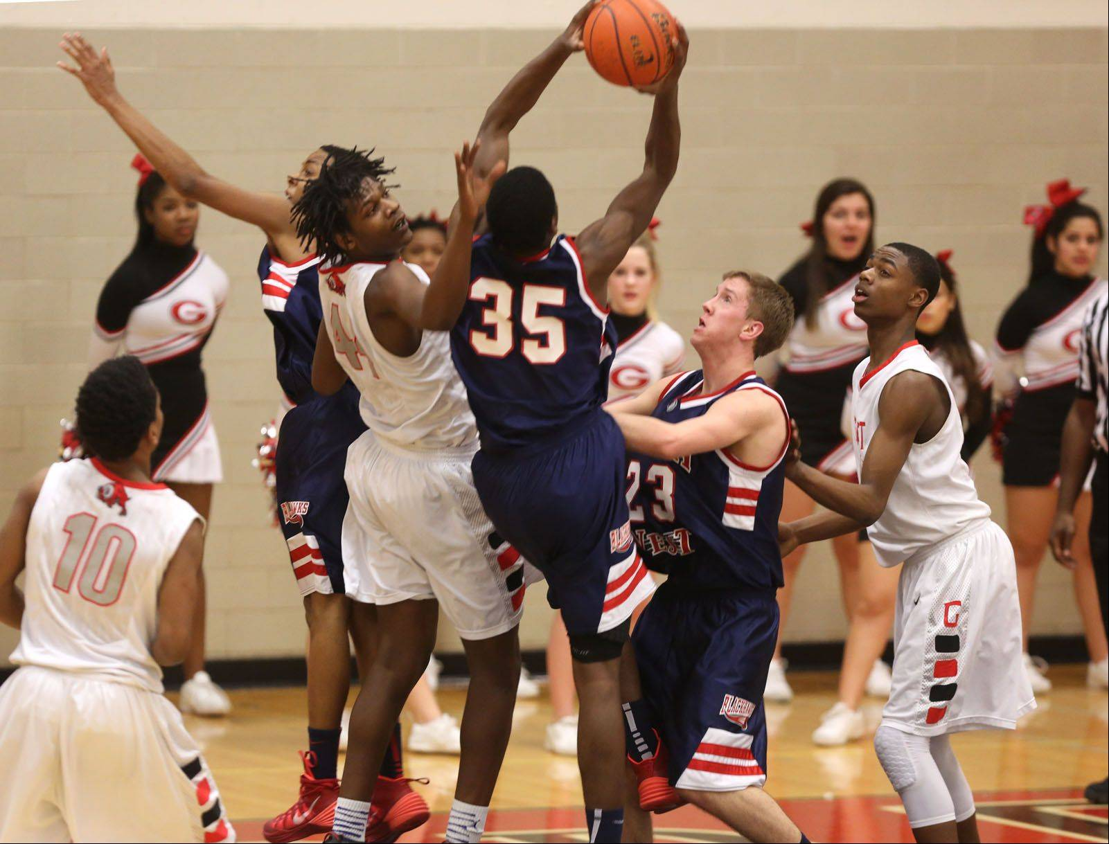 Images from the West Aurora vs. Glenbard East boys basketball game Friday, January 31, 2014 in Lombard.