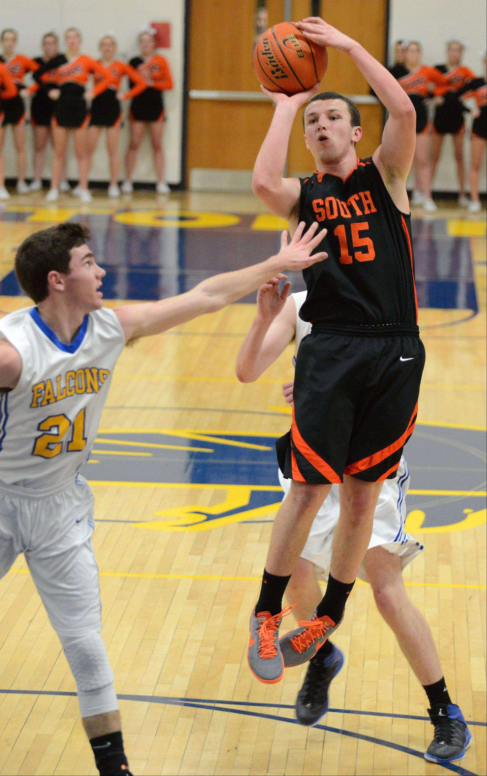 Wheaton North hosted Wheaton Warrenville South Friday, Jan. 31 for boys basketball.