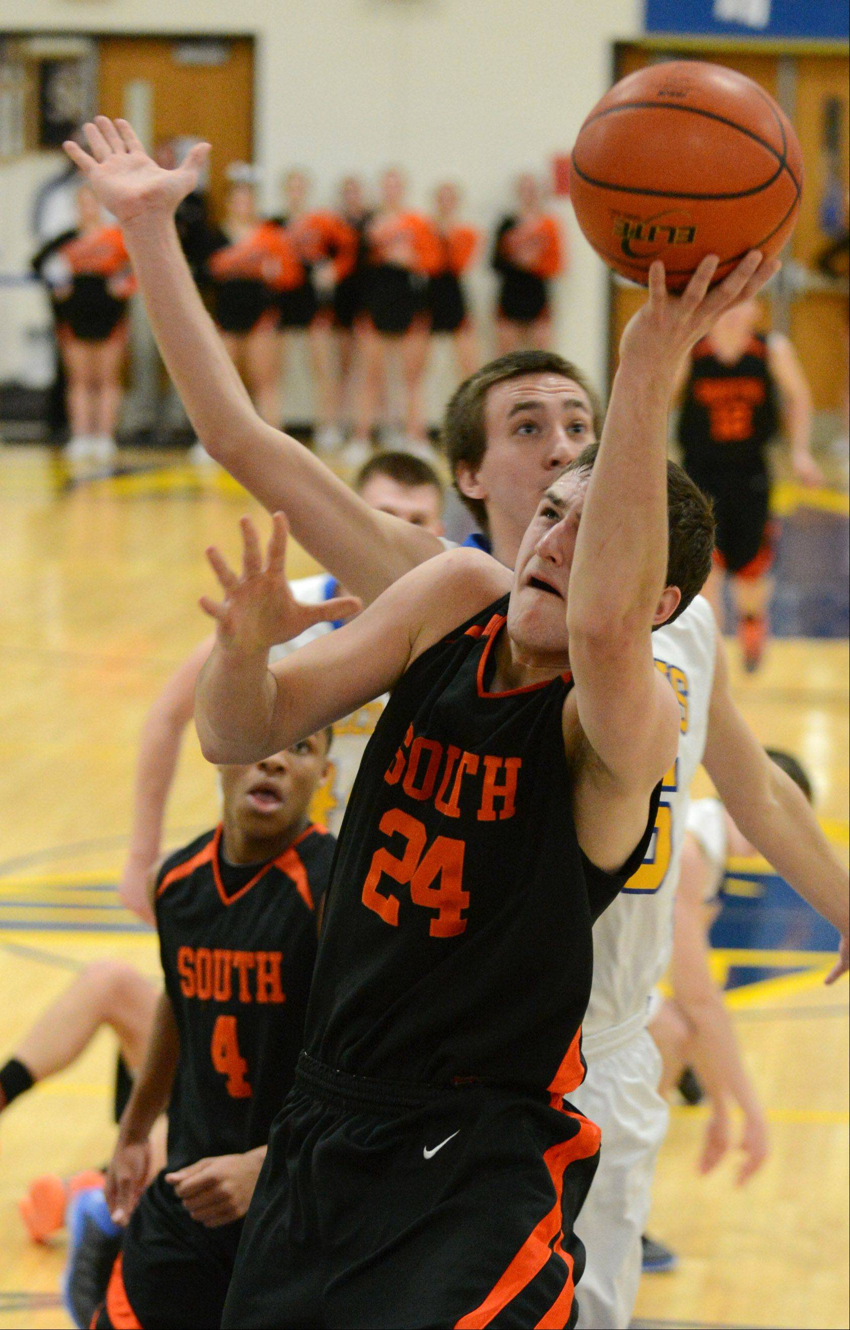 Wheaton Warrenville South's Matt Kienzle takes a shot.