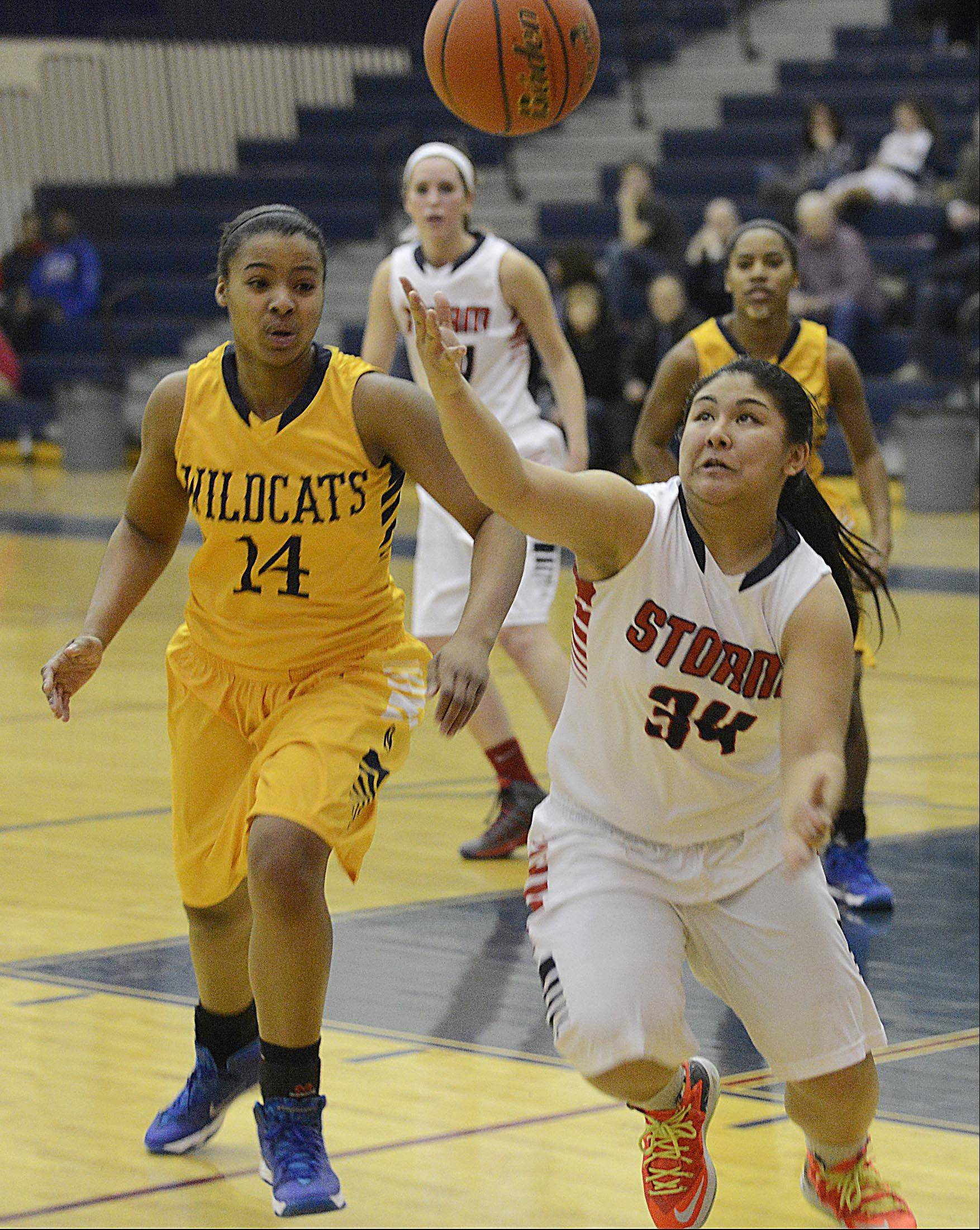 Images from the Neuqua Valley at South Elgin girls basketball game Monday, February 3, 2014 in South Elgin.
