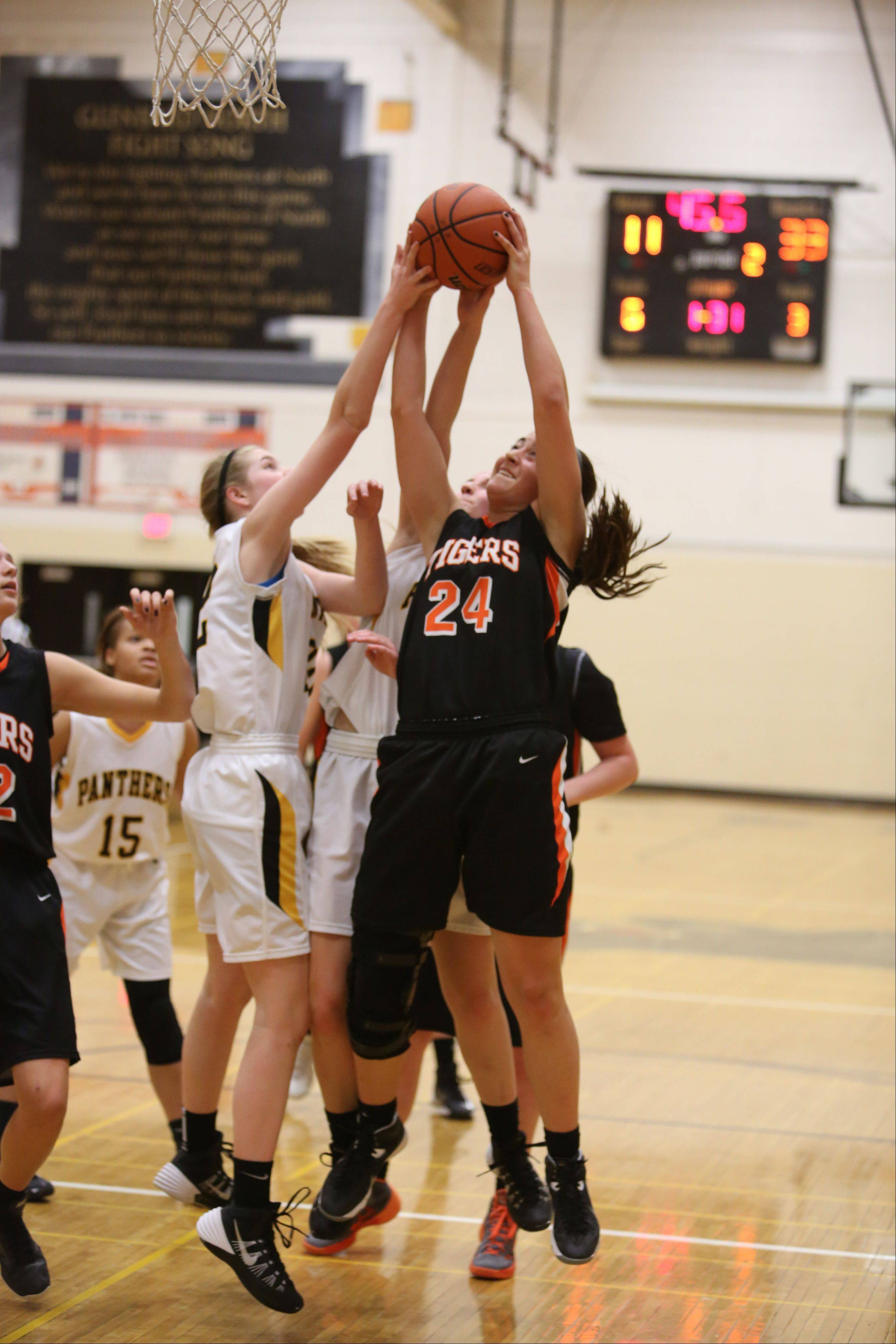 Photos from the Wheaton Warrenville at Glenbard North girls basketball game Monday, Feb. 3.