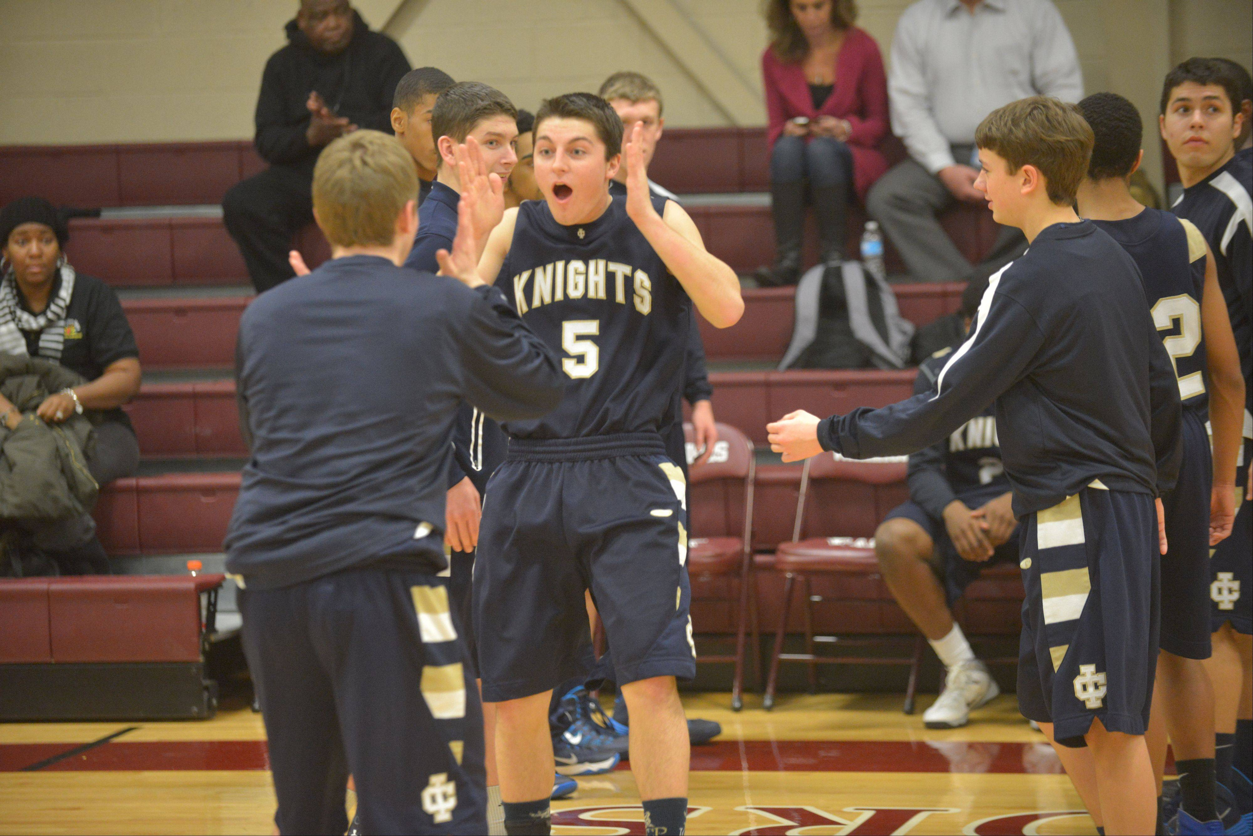 Images: IC catholic Prep at Wheaton Academy boys basketball