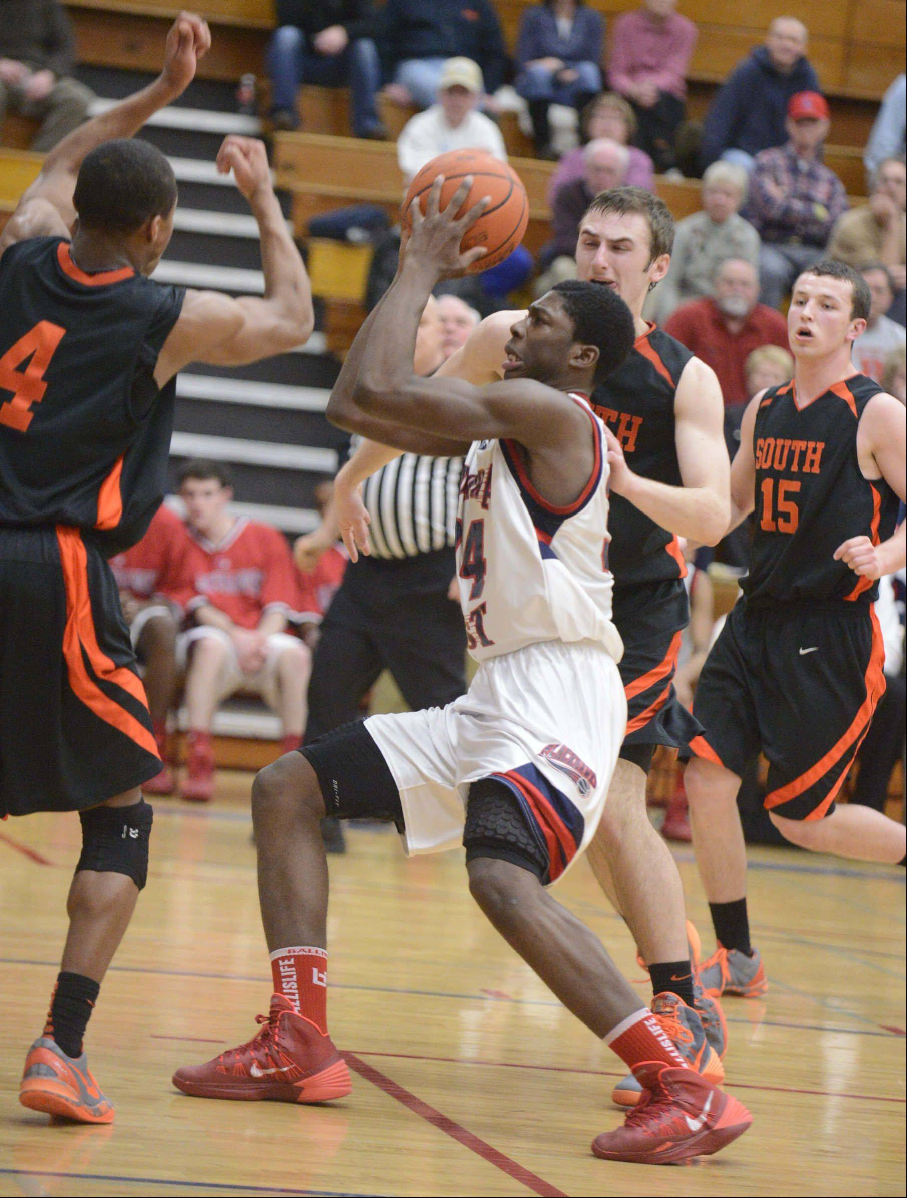 Images from the Wheaton Warrenville South at West Aurora boys basketball game Tuesday, February 4, 2014 in Aurora.