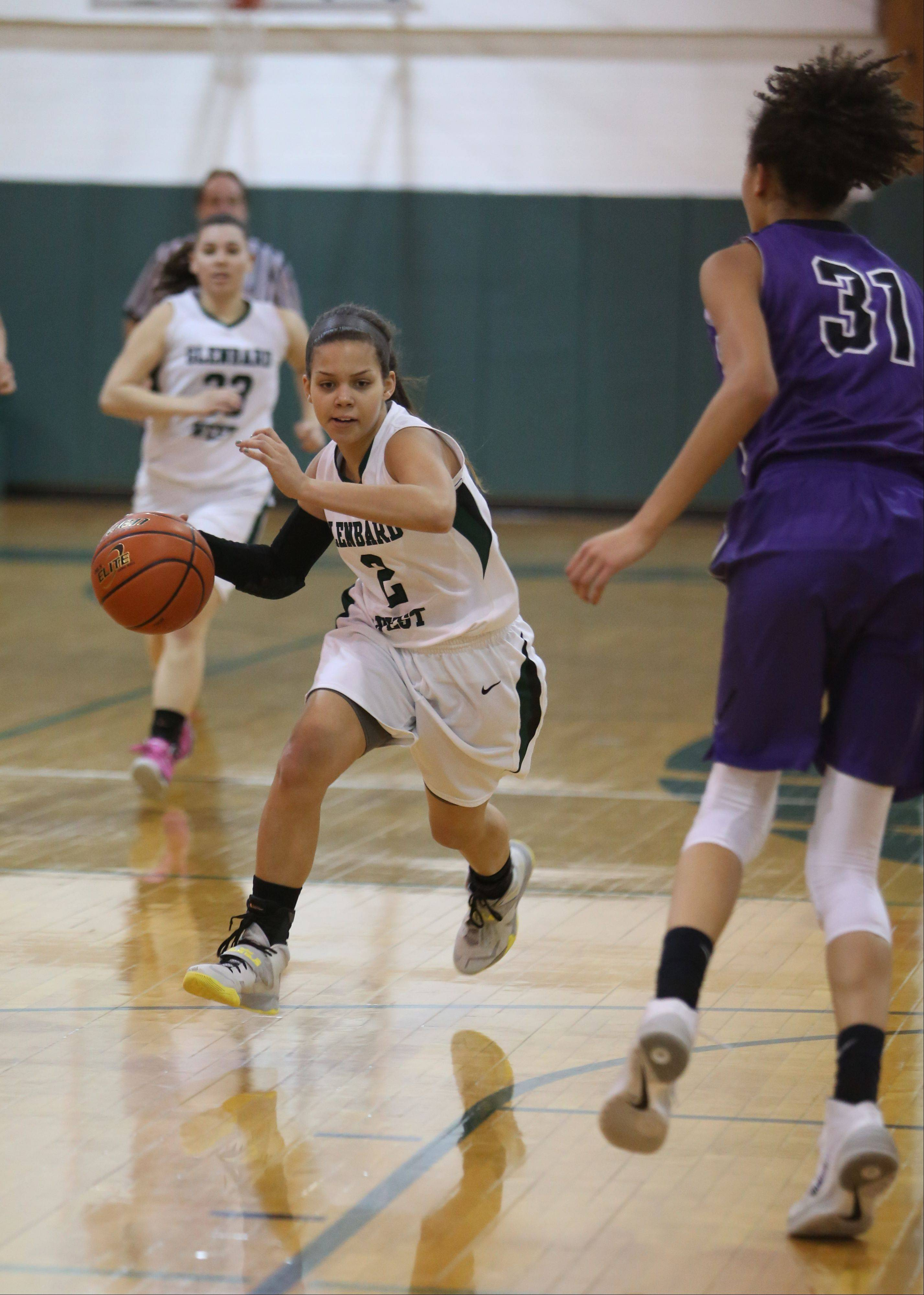 Photos from the Downers Grove North at Glenbard West girls basketball game Tuesday, Feb. 4.