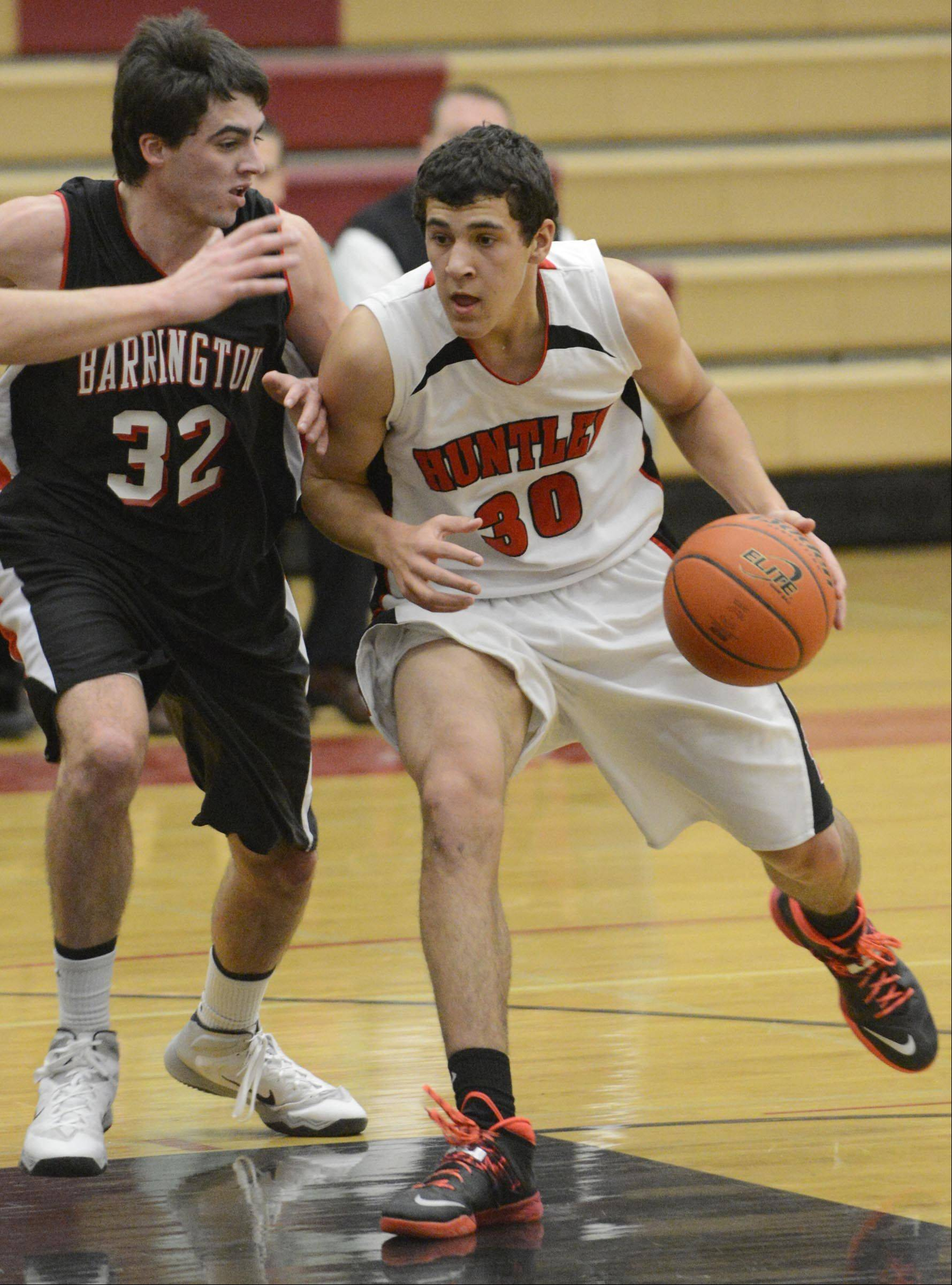 Images from the Barrington at Huntley boys basketball game Tuesday, February 4, 2014 in Huntley.