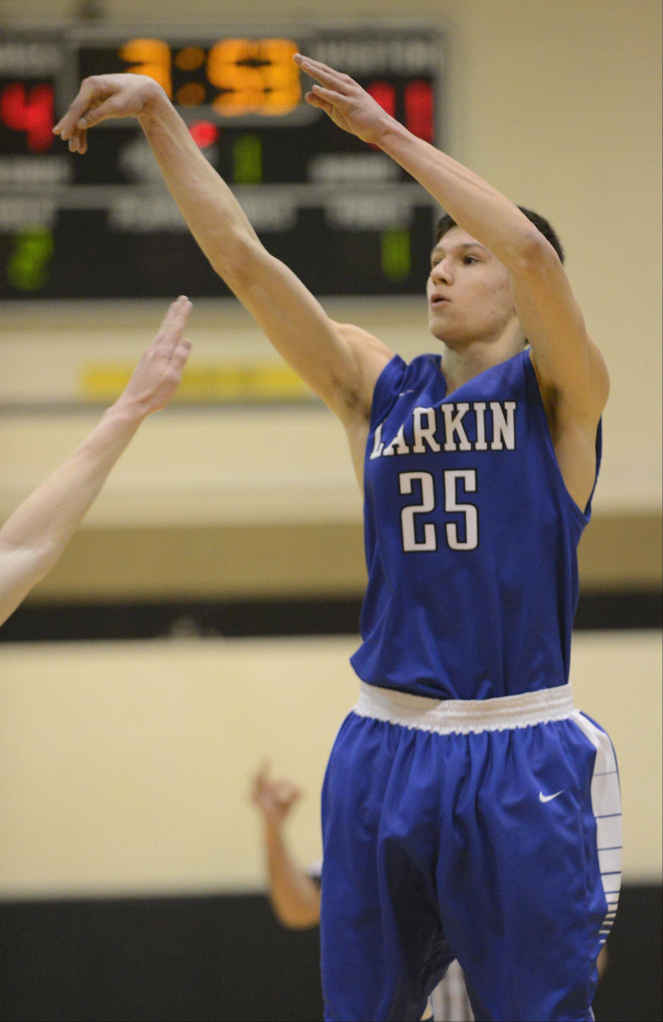 Larkin's Taylor Boley works the offense against Streamwood earlier this season. The Royals host Elgin tonight.