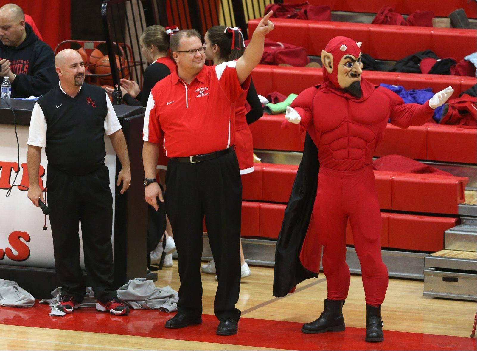 Hinsdale Central hosted Metea Valley Friday, Feb. 7 for boys basketball.