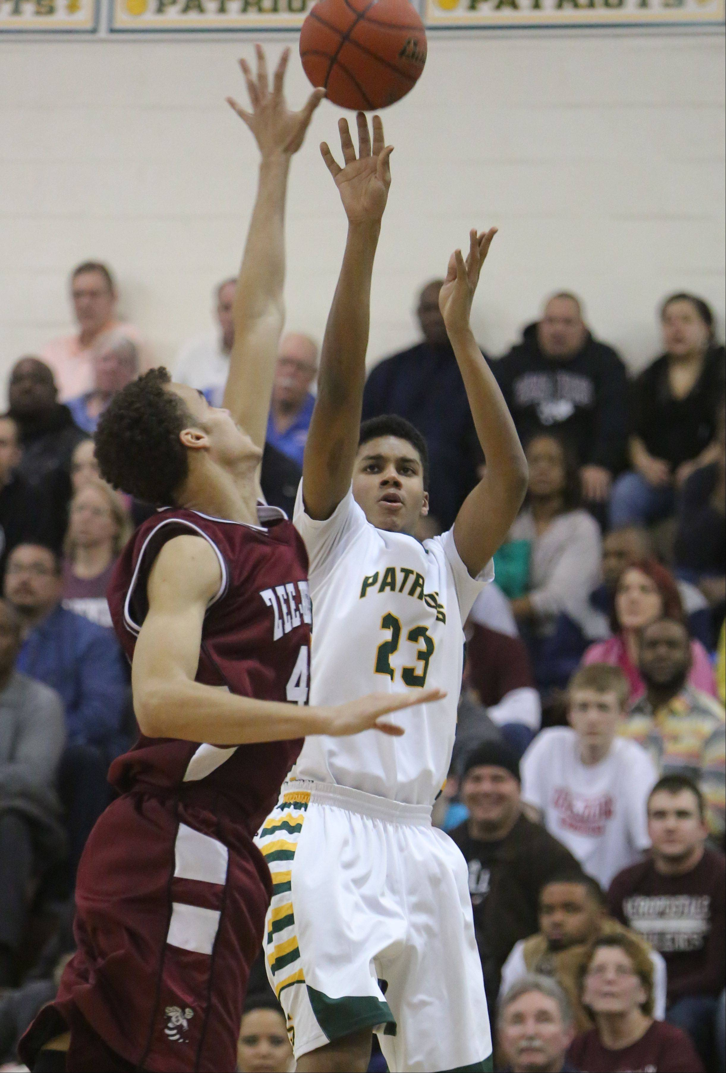 Images from the Zion-Benton at Stevenson boys basketball game on Friday, February 7 in Lincolnshire.