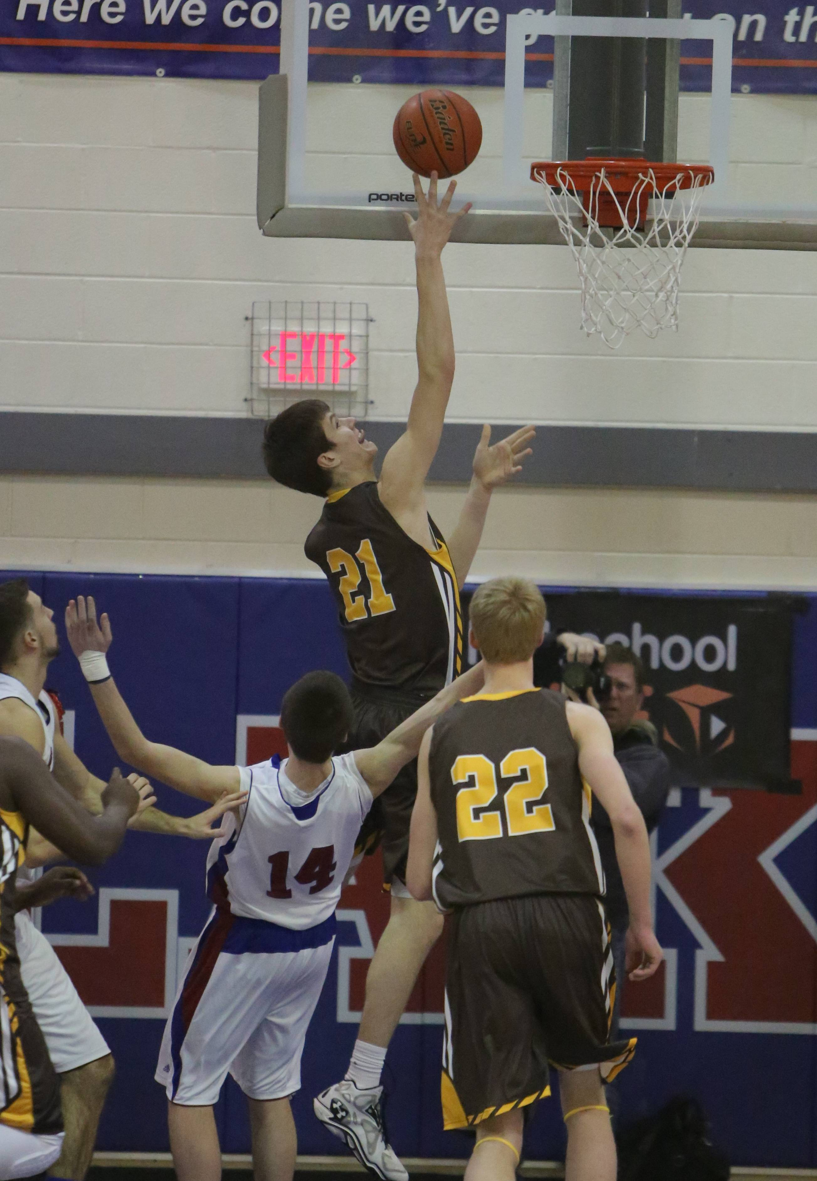 Images from the Carmel at Lakes boys basketball game on Monday, February 10 in Lake Villa.