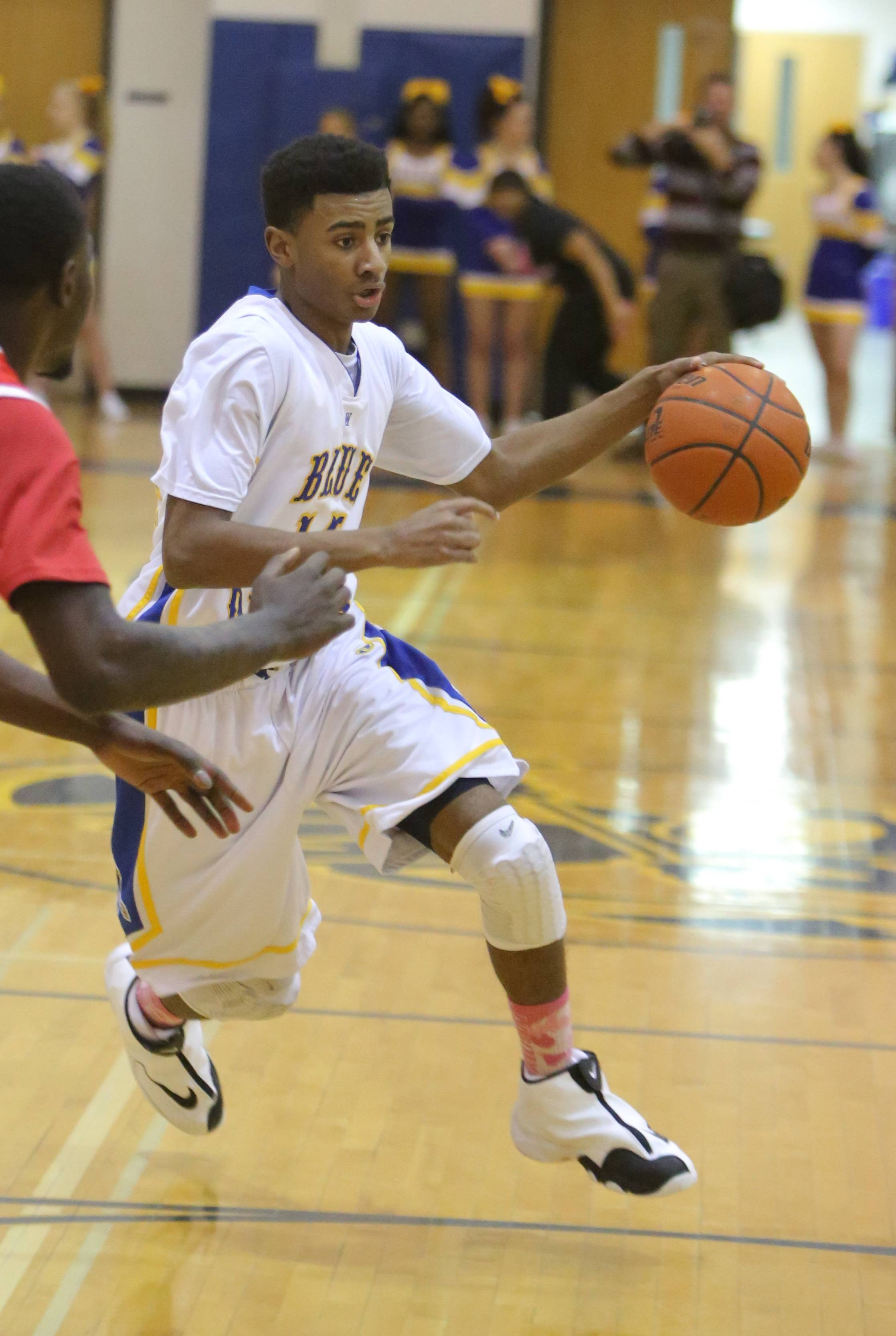 Images from the North Chicago at Warren boys basketball game on Tuesday, February 11 in Gurnee.