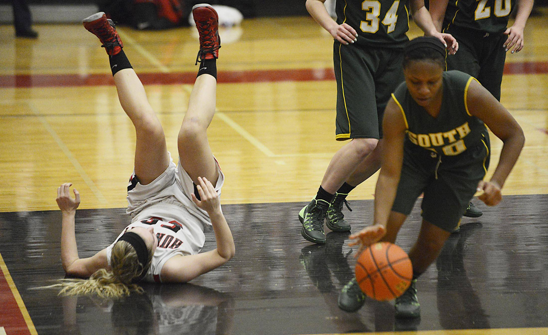 Images from the Crystal Lake South vs. Huntley girls basketball game Tuesday, February 11, 2014.