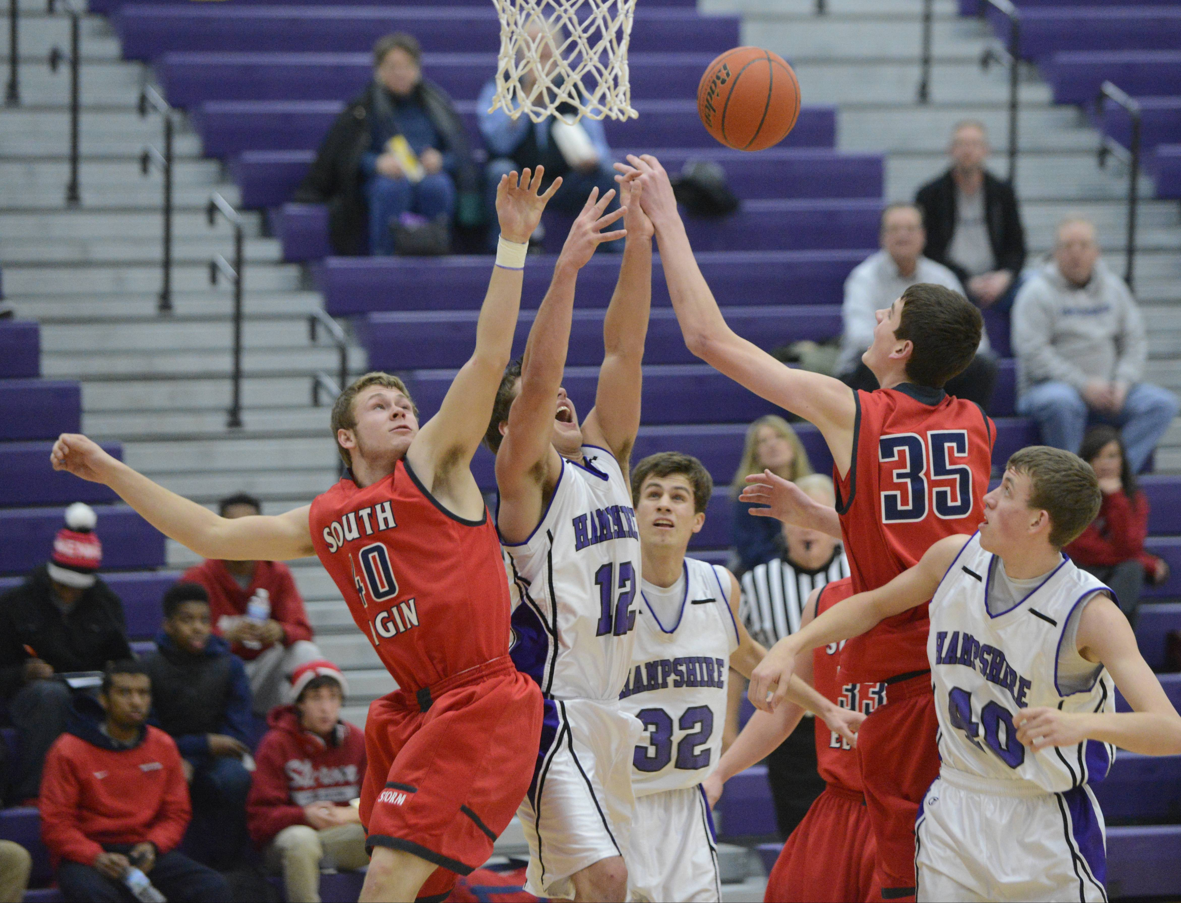 Images from the Hampshire vs South Elgin boys basketball game Wednesday, February 12, 2014.