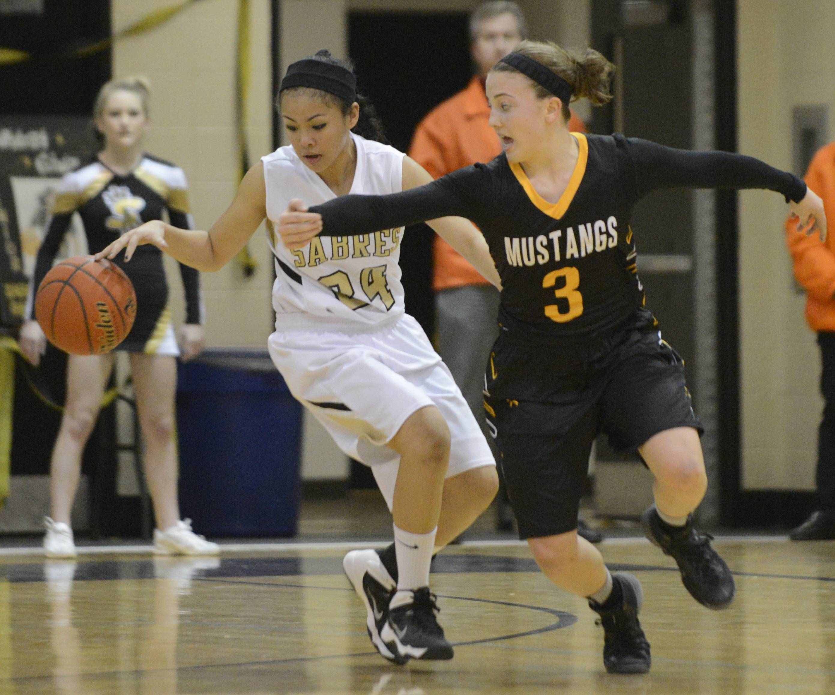 Images from the Metea Valley vs. Streamwood girls basketball game Thursday, February 13, 2014.