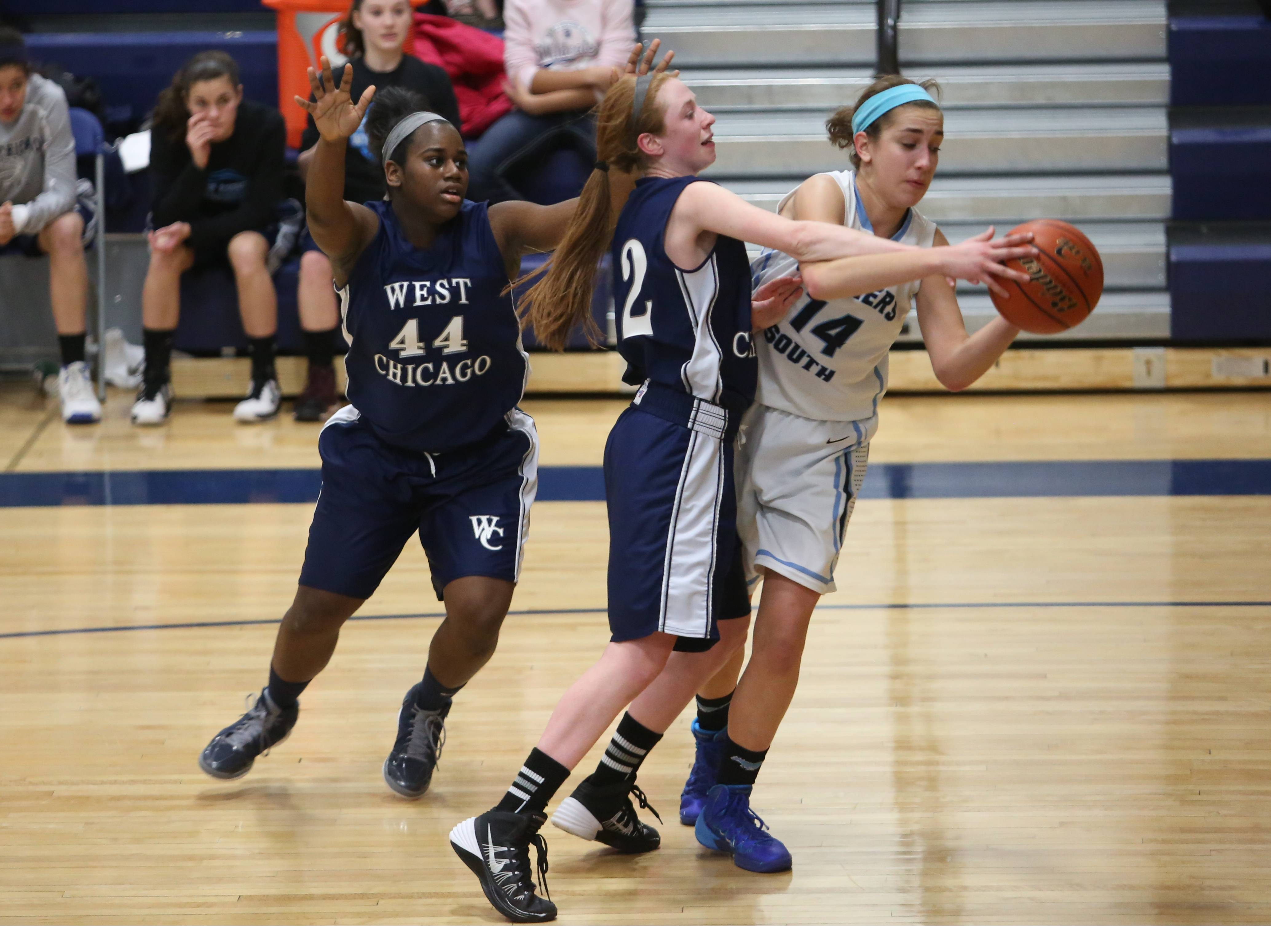 Photos from the West Chicago vs. Downers Grove South girls basketball game Monday, Feb. 17 at Wheaton North High School.