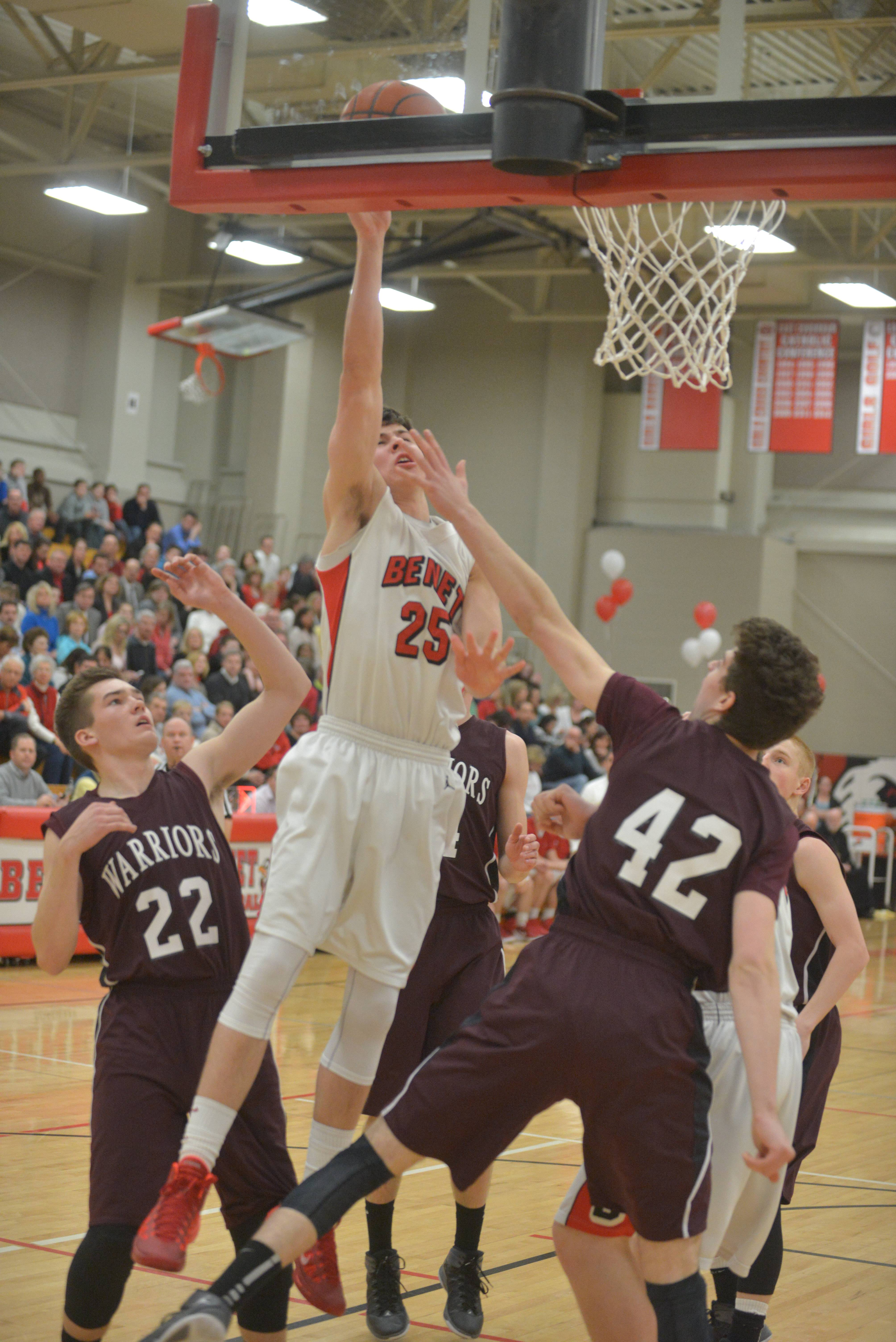Wheaton Academy at Benet boys basketball .