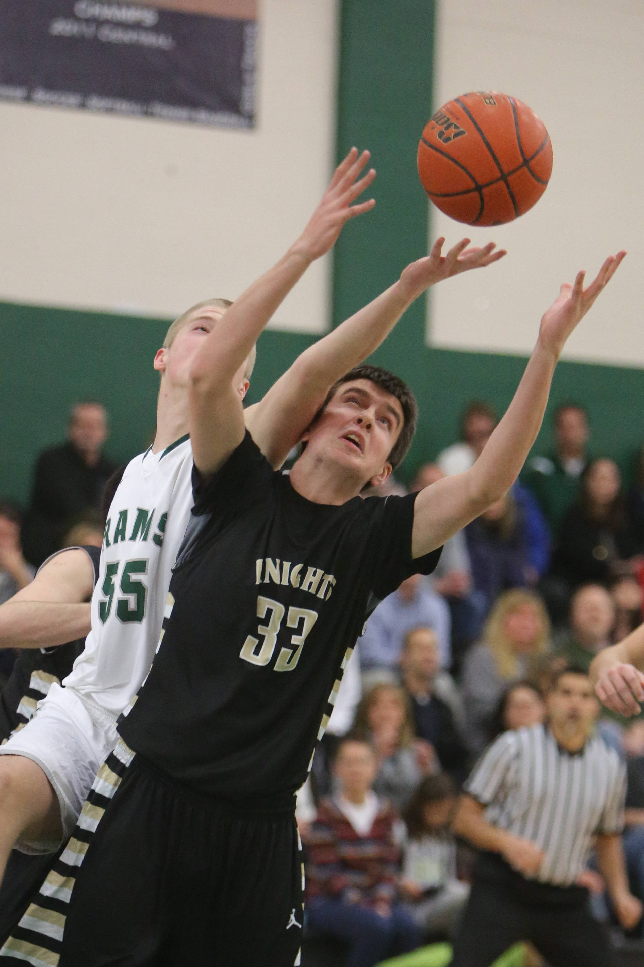 Images from the Grayslake North at Grayslake Central boys basketball game on Tuesday, February 18.