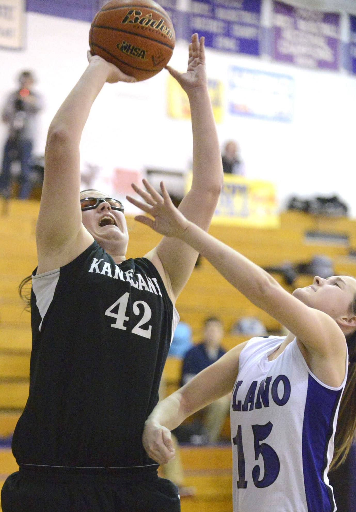 Images from the Plano vs. Kaneland Class 3A girls regional semifinal basketball game Wednesday, February 19, 2014.