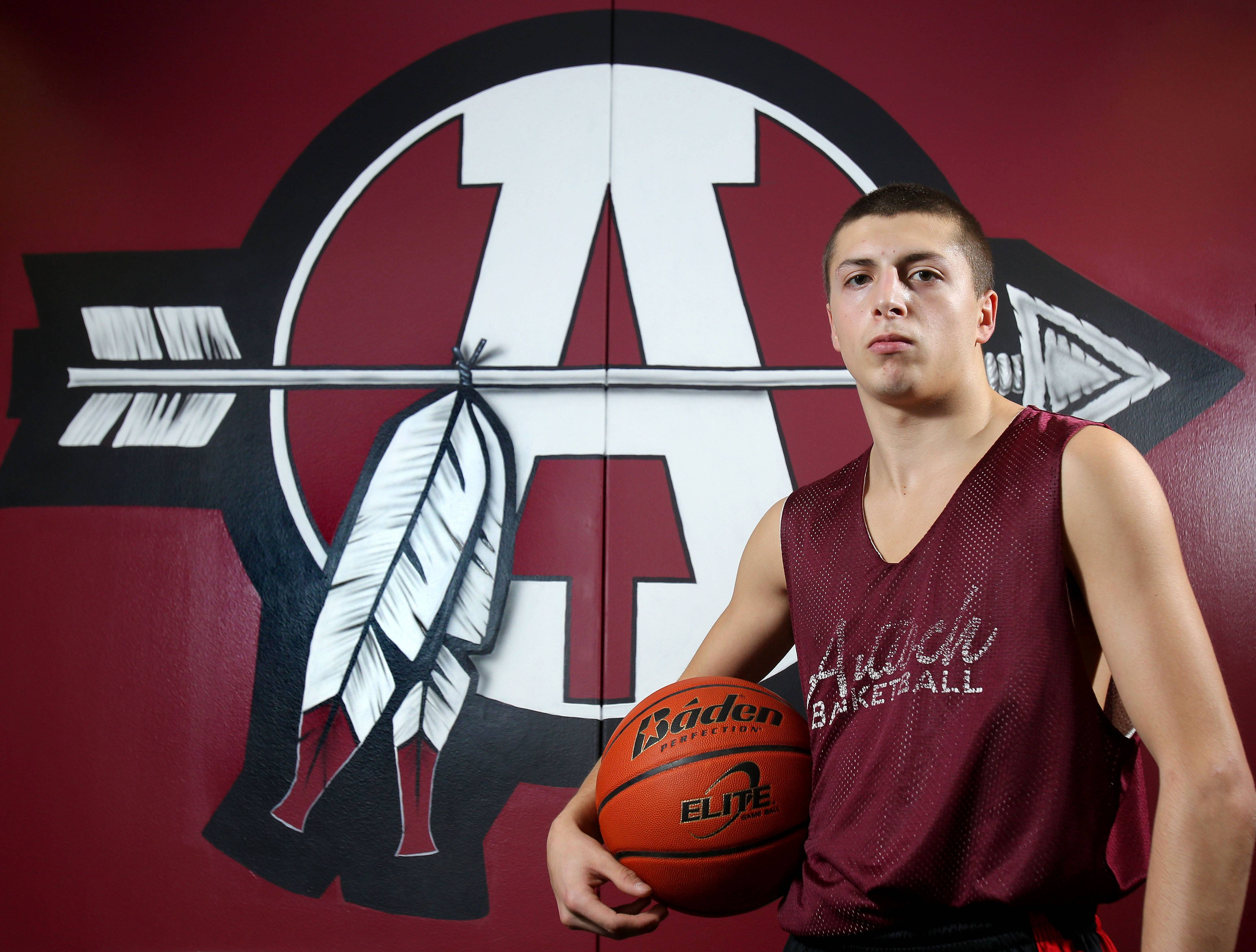 Antioch's AJ Marsiglio is a standout in basketball, helping direct the team with assists from his point guard position. He's also got his heart set on helping people fight cancer.