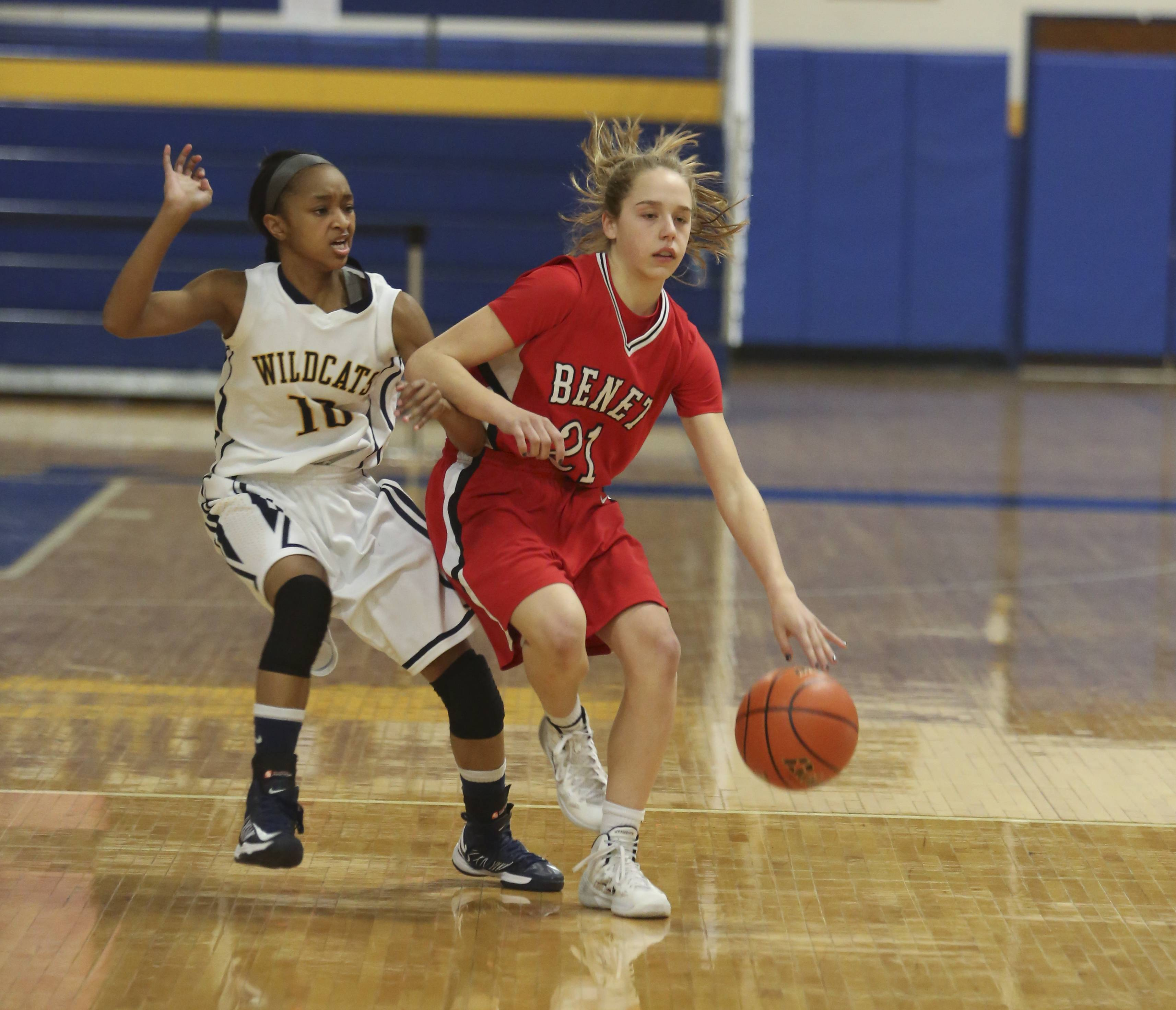 Photos from the Neuqua Valley vs. Benet Academy girls basketball at Joliet Central High School Monday, Feb. 24.