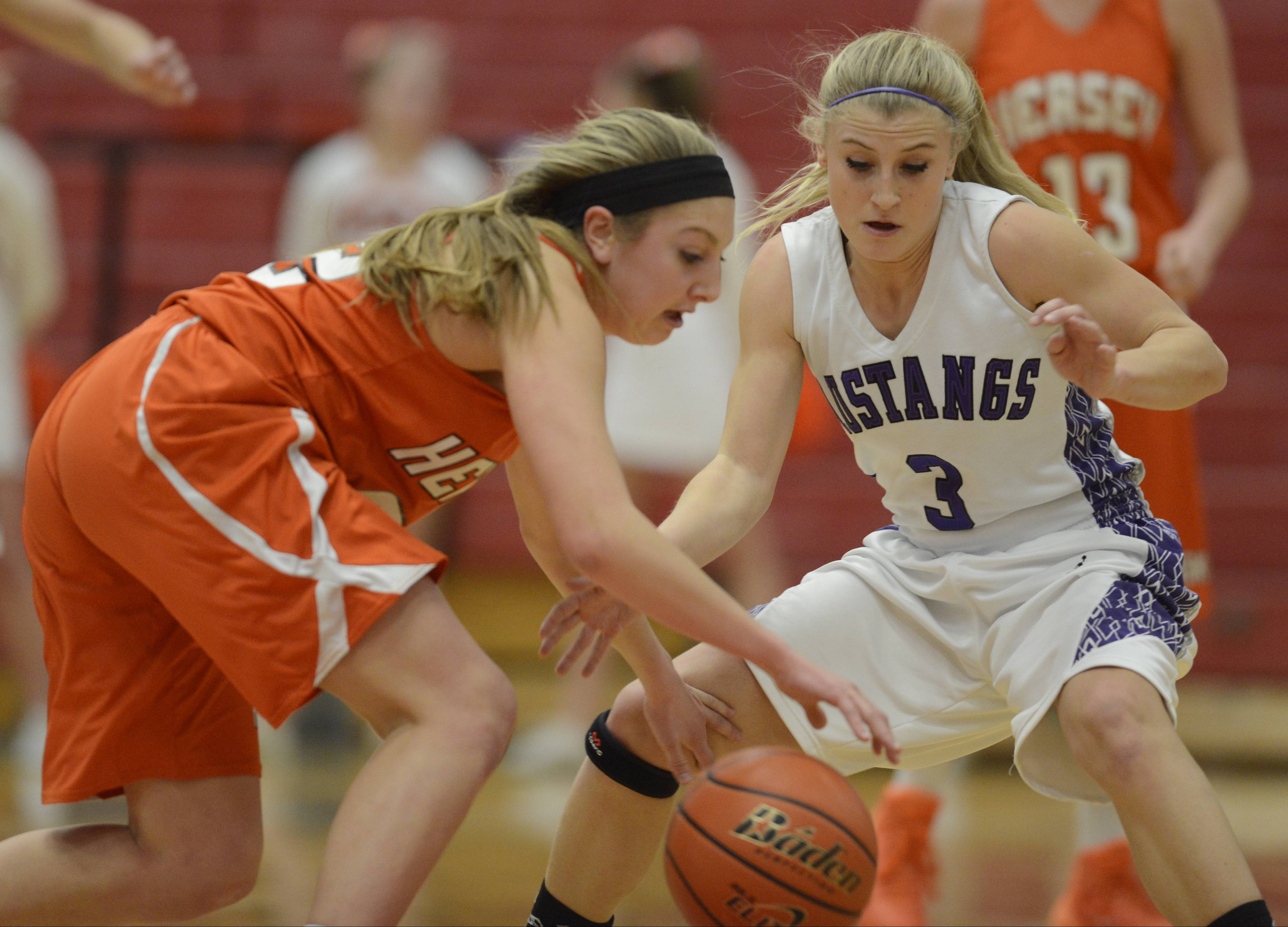 Images: Rolling Meadows vs. Hersey girls basketball